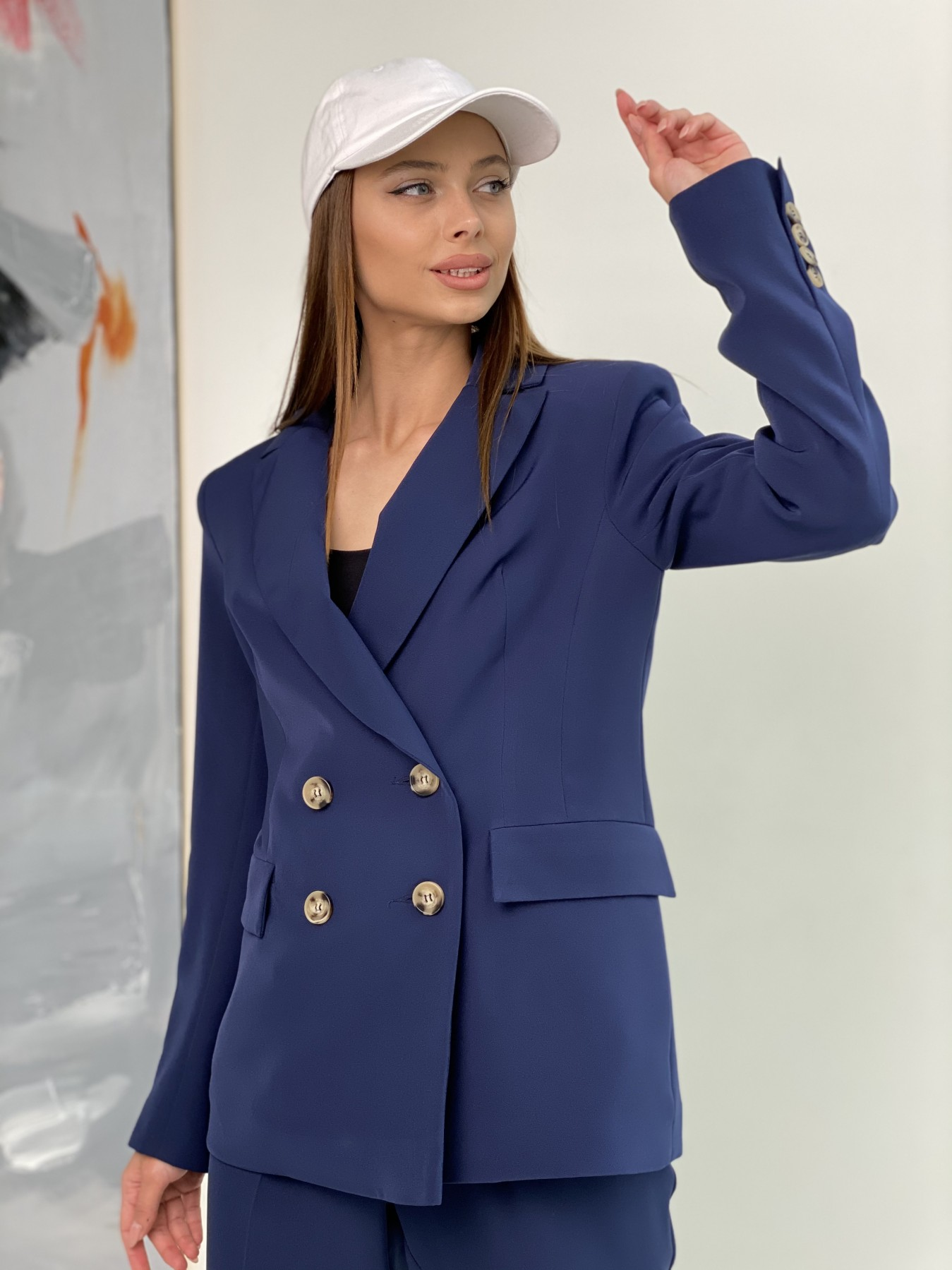 Франко костюм из костюмной ткани 11090 АРТ. 47972 Цвет: Т.синий - фото 6, интернет магазин tm-modus.ru