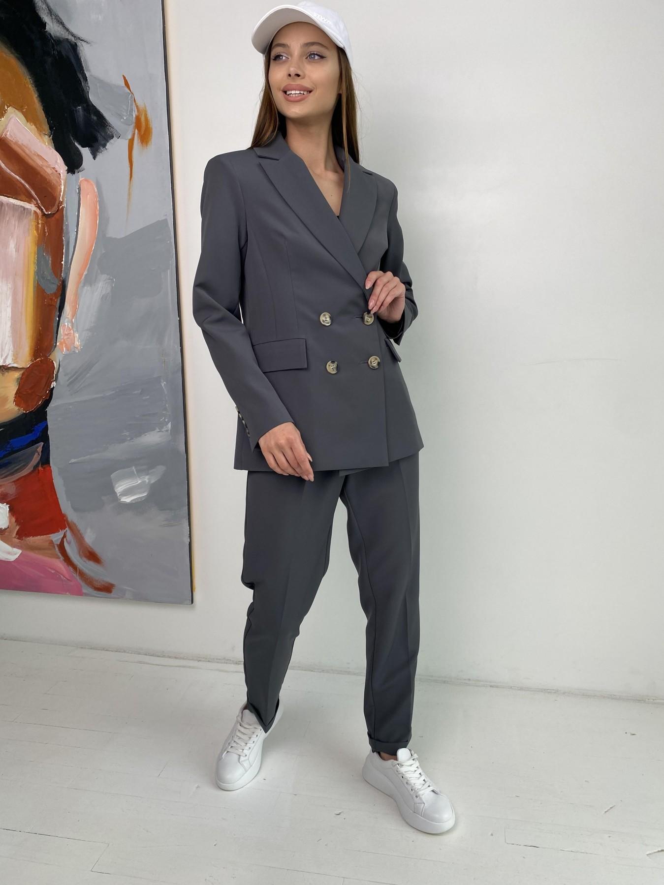 Франко костюм из костюмной ткани 11090 АРТ. 47975 Цвет: Графит - фото 2, интернет магазин tm-modus.ru