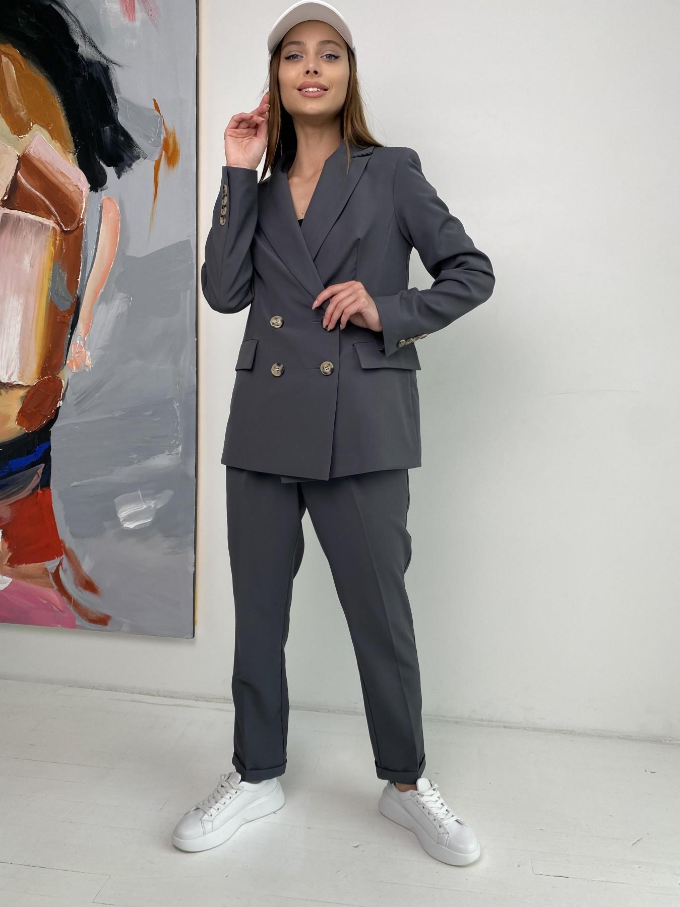 Франко костюм из костюмной ткани 11090 АРТ. 47975 Цвет: Графит - фото 3, интернет магазин tm-modus.ru