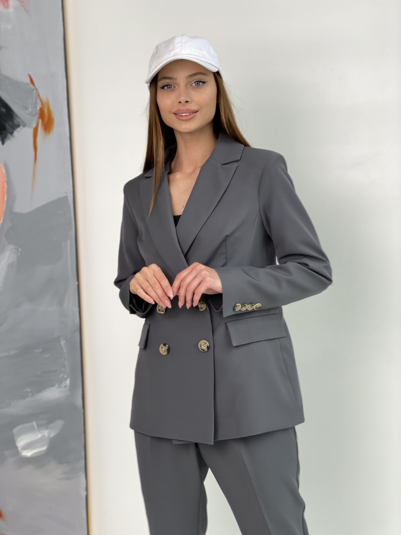 Франко костюм из костюмной ткани 11090 АРТ. 47975 Цвет: Графит - фото 5, интернет магазин tm-modus.ru