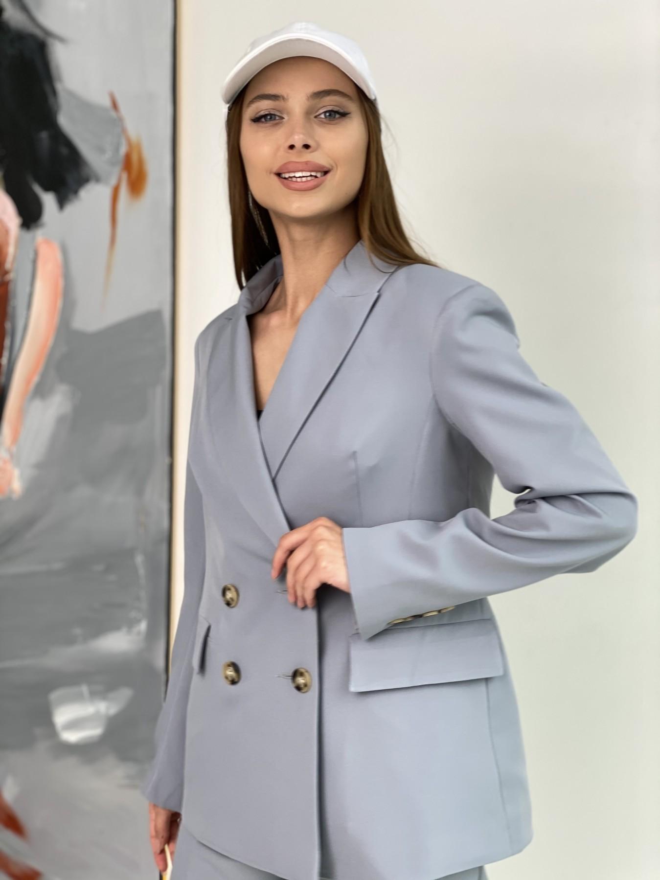 Франко костюм стрейчевый из костюмной ткани 11090 АРТ. 47971 Цвет: Серый - фото 1, интернет магазин tm-modus.ru