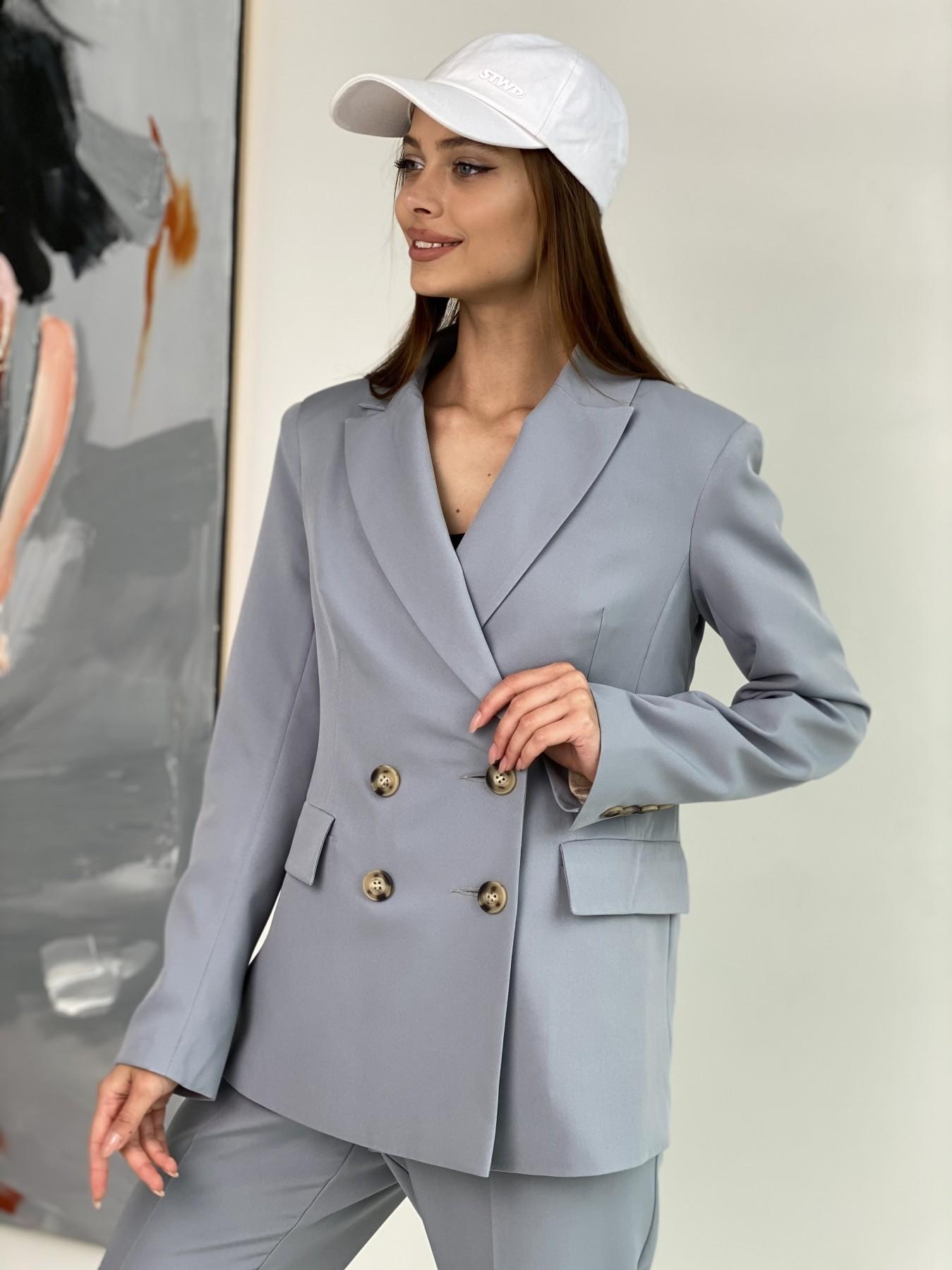 Франко костюм стрейчевый из костюмной ткани 11090 АРТ. 47971 Цвет: Серый - фото 2, интернет магазин tm-modus.ru