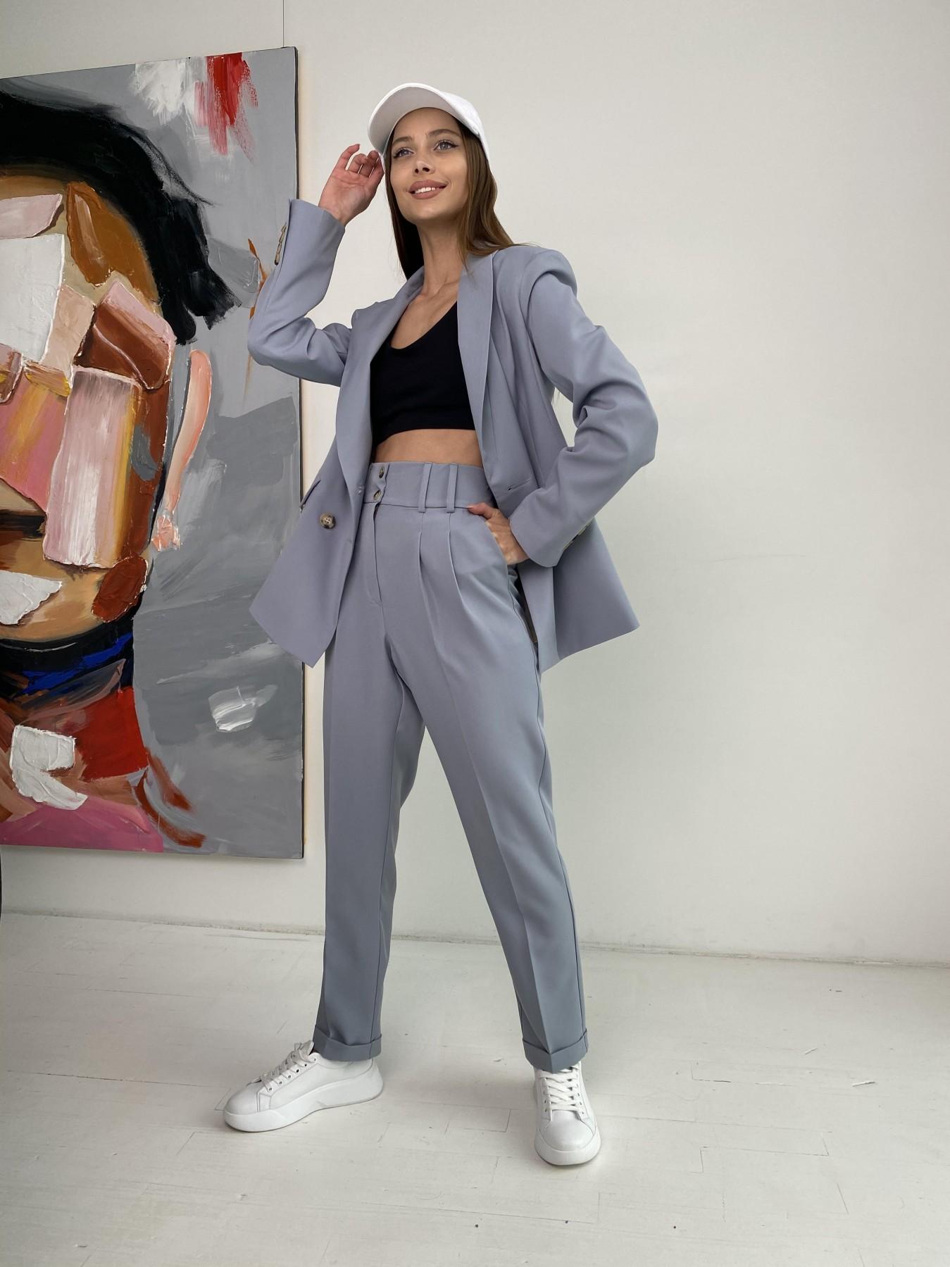 Франко костюм стрейчевый из костюмной ткани 11090 АРТ. 47971 Цвет: Серый - фото 5, интернет магазин tm-modus.ru