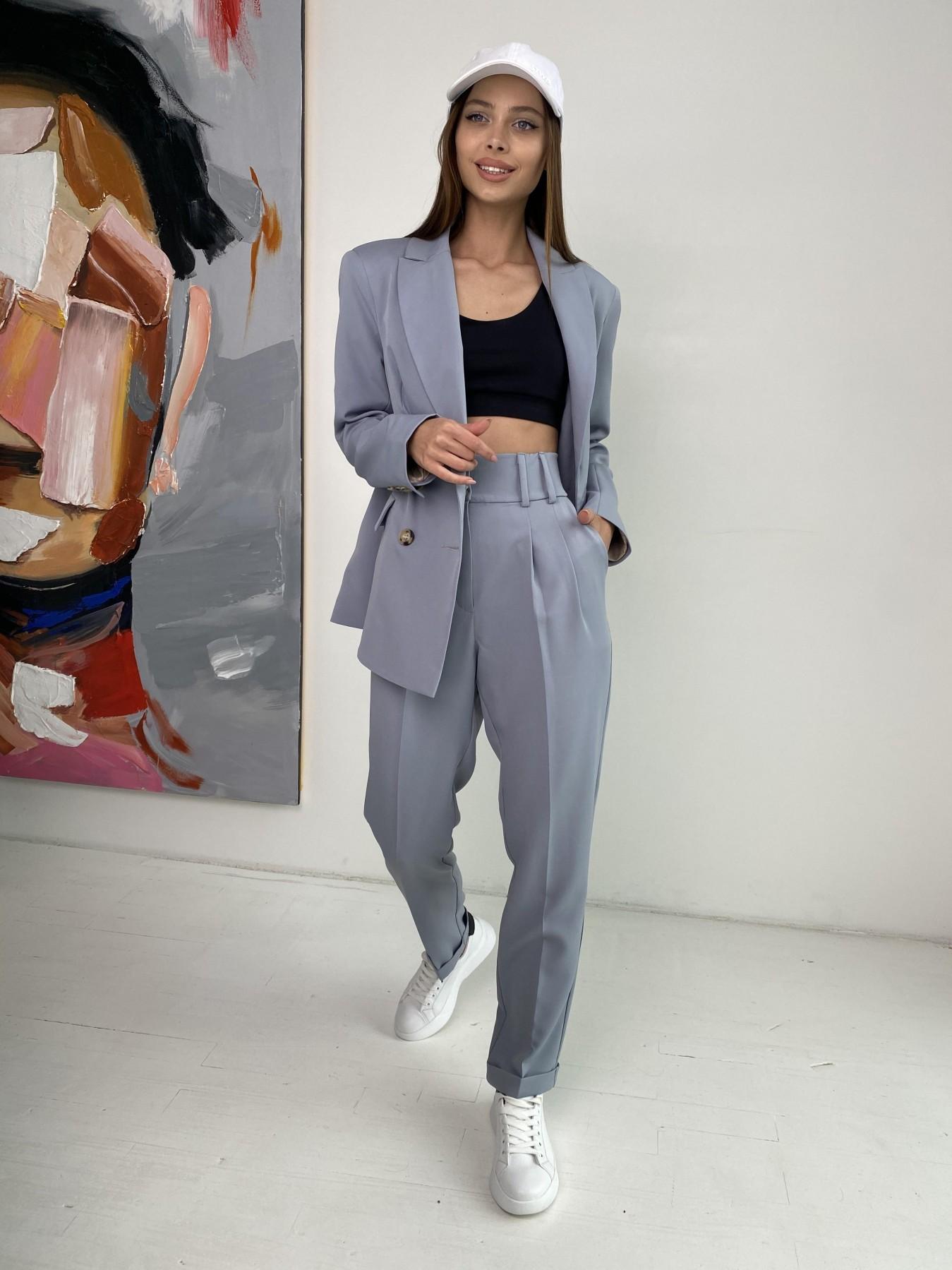 Франко костюм стрейчевый из костюмной ткани 11090 АРТ. 47971 Цвет: Серый - фото 7, интернет магазин tm-modus.ru