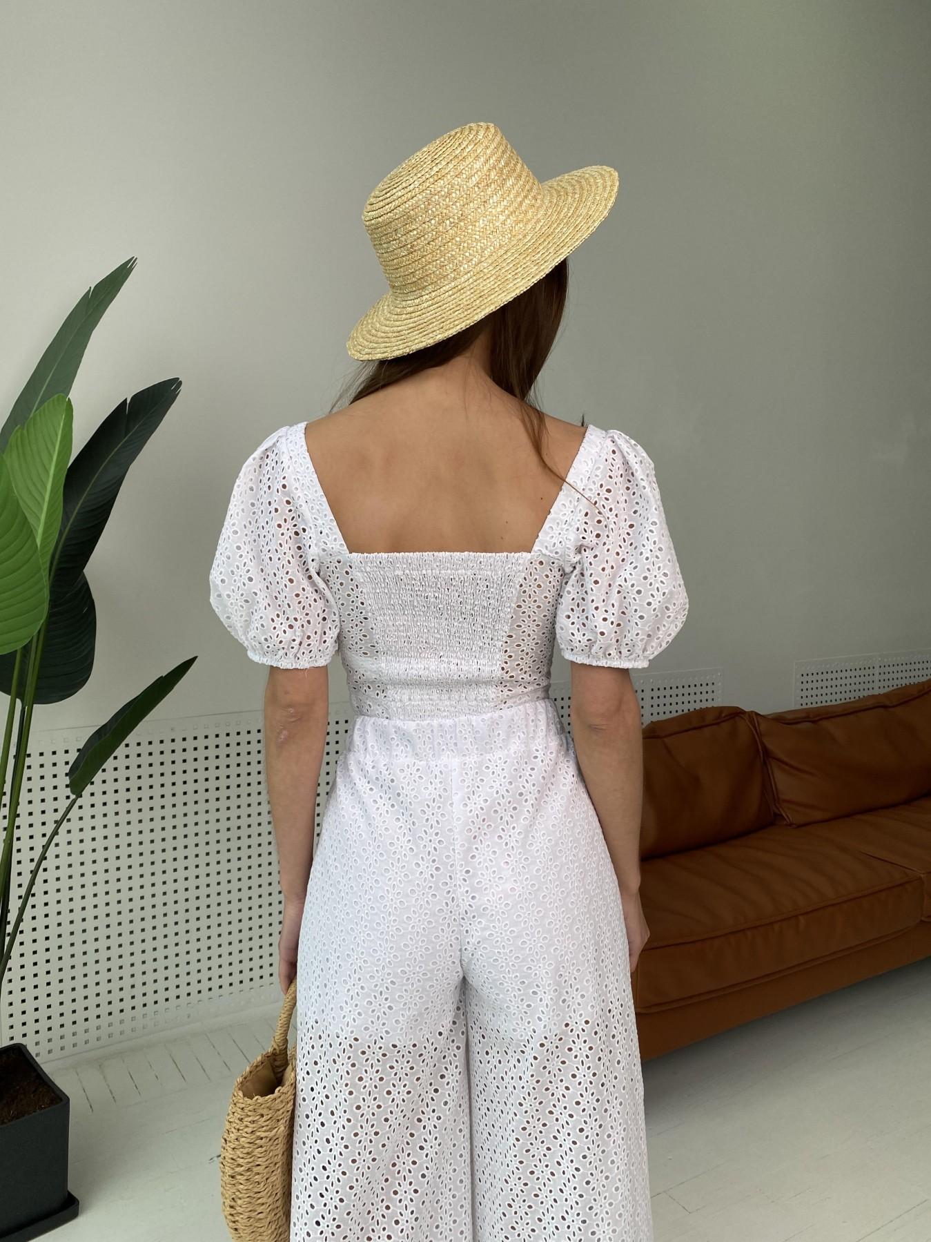 Лагуна  прогулочный костюм из прошвы 11294 АРТ. 48004 Цвет: Белый/МелЦветПерфор - фото 13, интернет магазин tm-modus.ru
