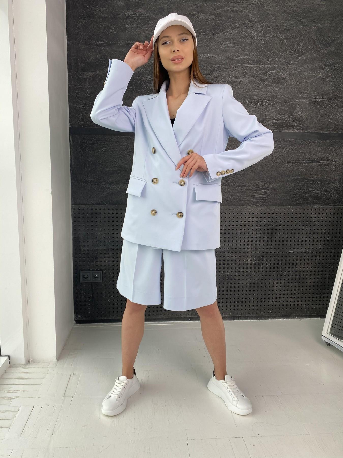 Бонжур шорты из  костюмной ткани стрейч 11403 АРТ. 47952 Цвет: Голубой - фото 1, интернет магазин tm-modus.ru
