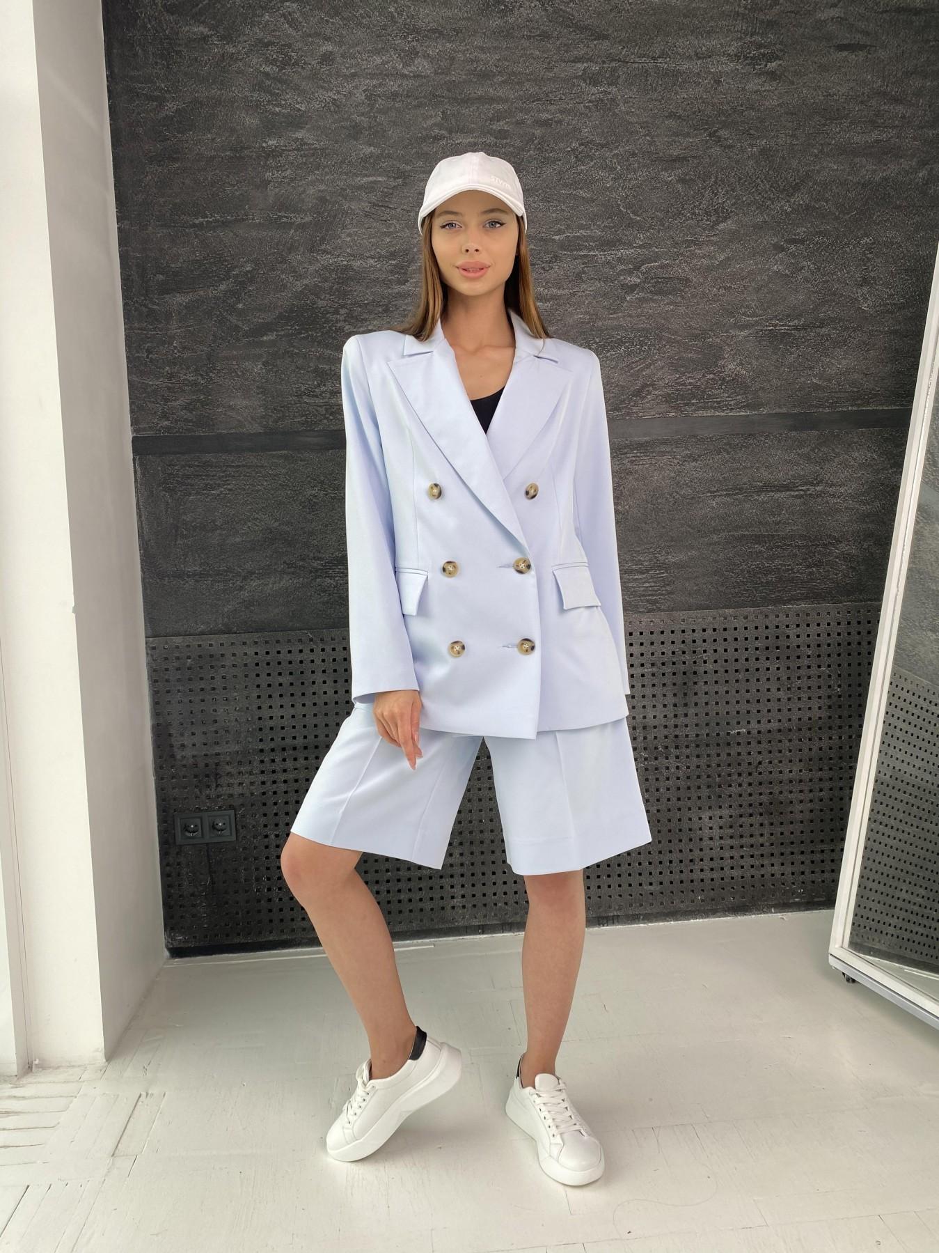 Бонжур шорты из  костюмной ткани стрейч 11403 АРТ. 47952 Цвет: Голубой - фото 2, интернет магазин tm-modus.ru