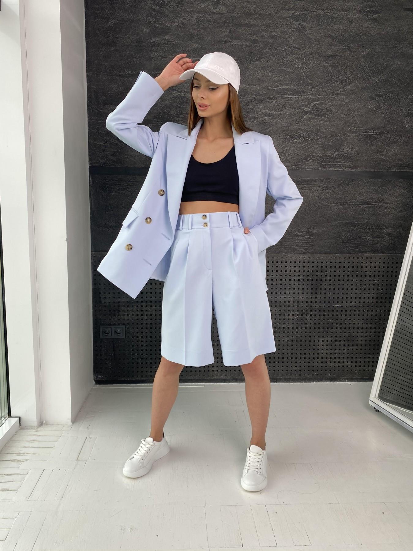 Бонжур шорты из  костюмной ткани стрейч 11403 АРТ. 47952 Цвет: Голубой - фото 6, интернет магазин tm-modus.ru