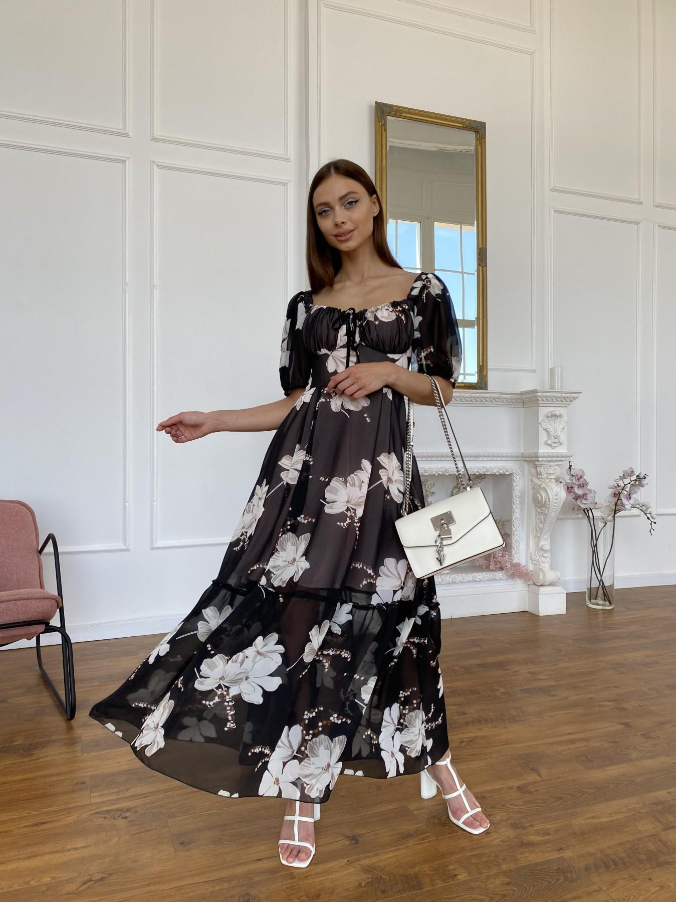 Купить женское платье Лоретта платье из шифона в принт 11468
