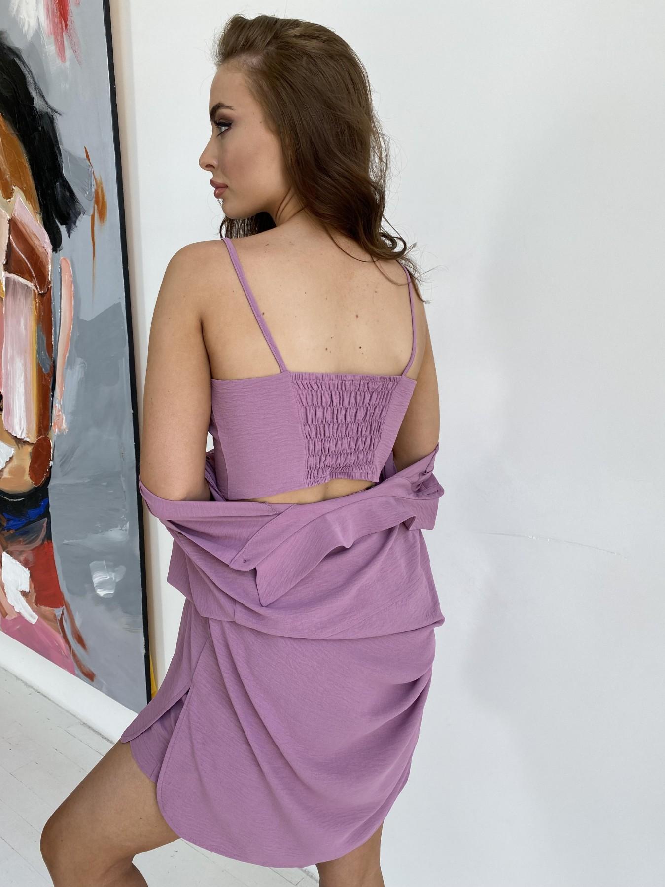 Квадро костюм американский из ткани креп (4 ед) 11303 АРТ. 48096 Цвет: Фрез - фото 9, интернет магазин tm-modus.ru