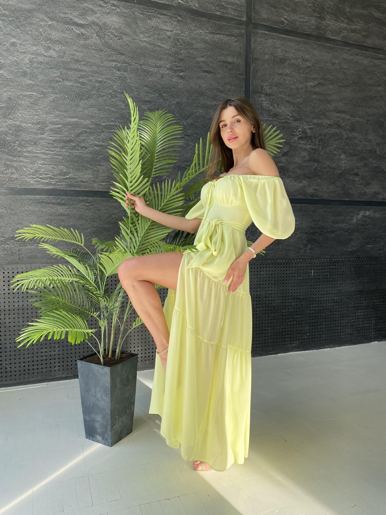 Сейшелы платье креп шифон 11519 АРТ. 48161 Цвет: Желтый - фото 6, интернет магазин tm-modus.ru