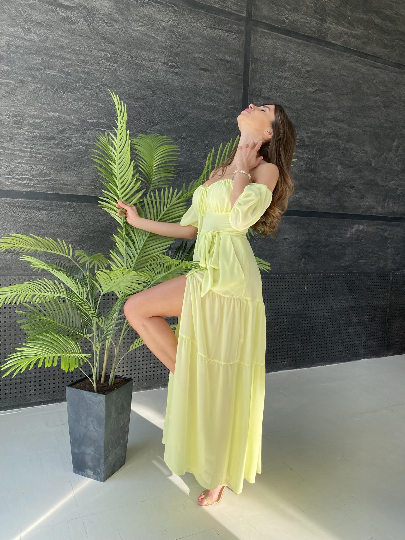 Сейшелы платье креп шифон 11519 АРТ. 48161 Цвет: Желтый - фото 8, интернет магазин tm-modus.ru
