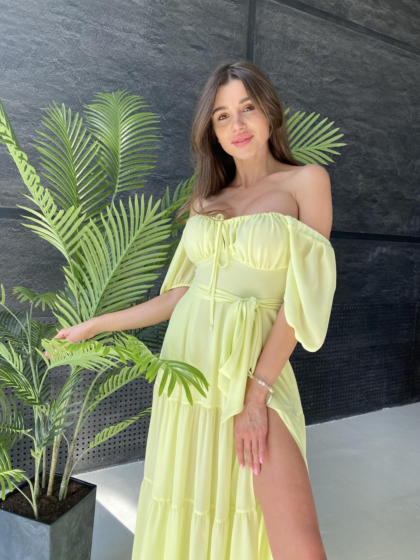 Сейшелы платье креп шифон 11519 АРТ. 48161 Цвет: Желтый - фото 9, интернет магазин tm-modus.ru