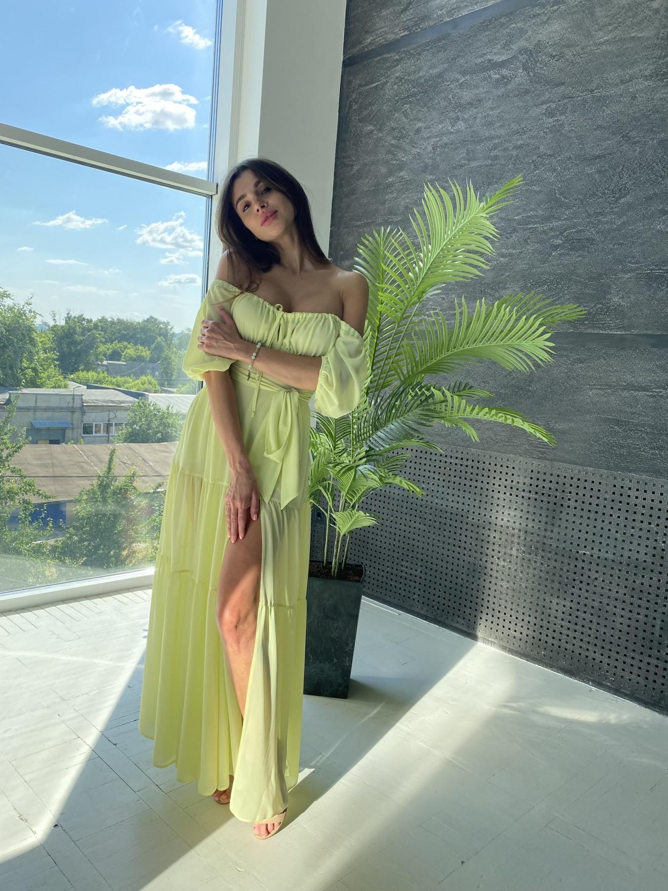 Сейшелы платье креп шифон 11519 АРТ. 48161 Цвет: Желтый - фото 10, интернет магазин tm-modus.ru