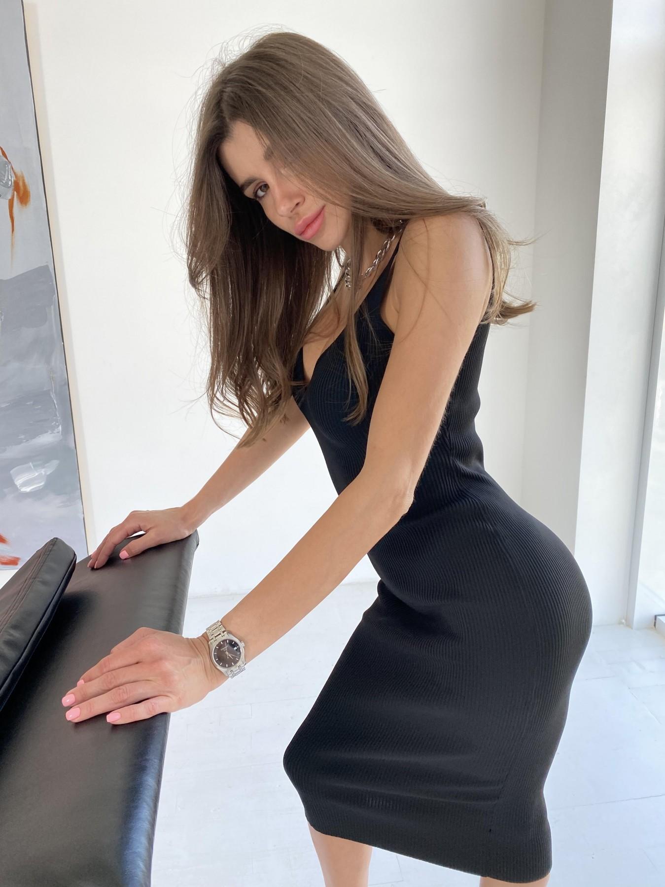Платье 91798 АРТ. 48056 Цвет: Черный - фото 7, интернет магазин tm-modus.ru