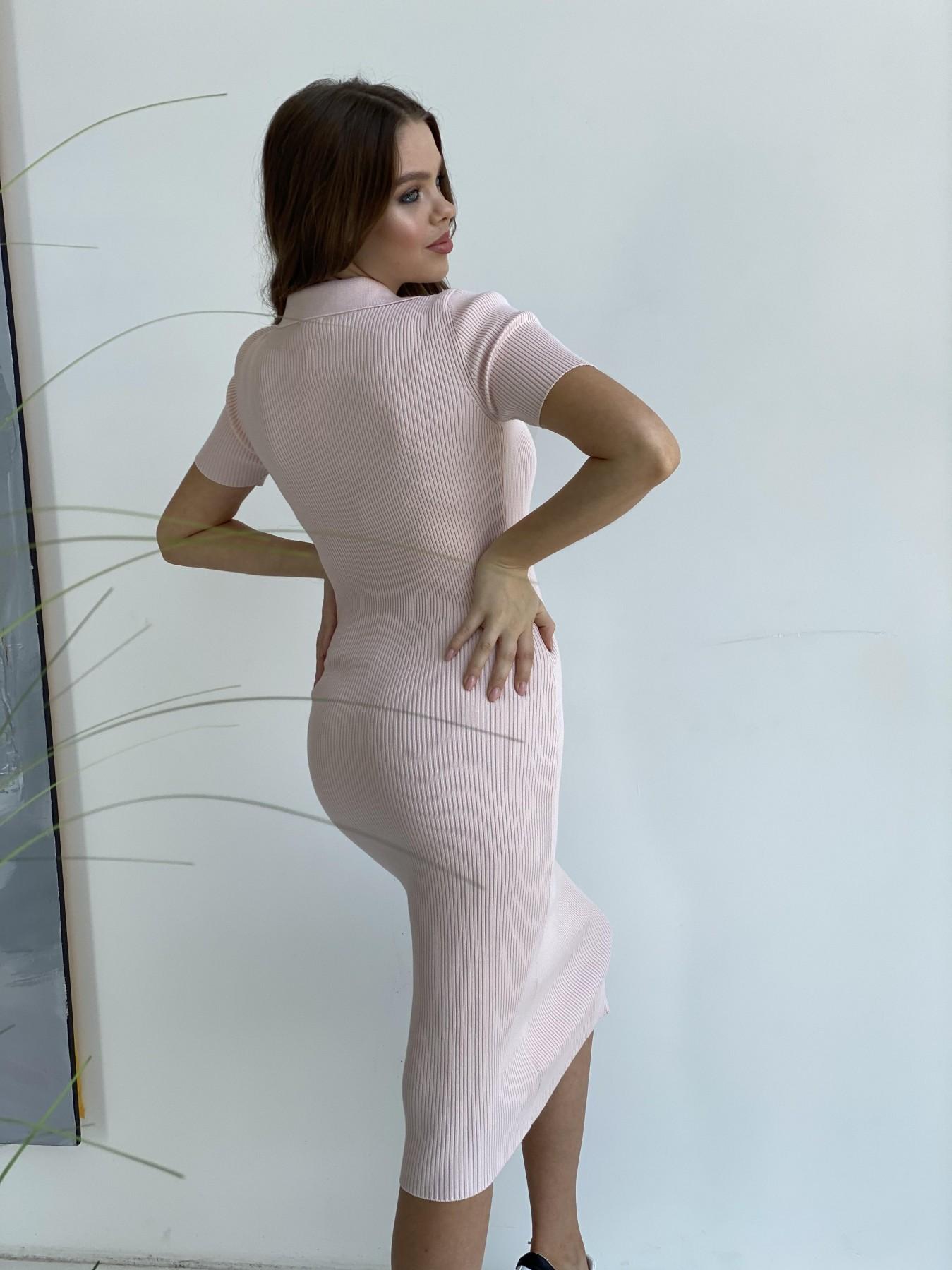 Платье воротник 91688 АРТ. 48070 Цвет: Пудра 2 - фото 5, интернет магазин tm-modus.ru