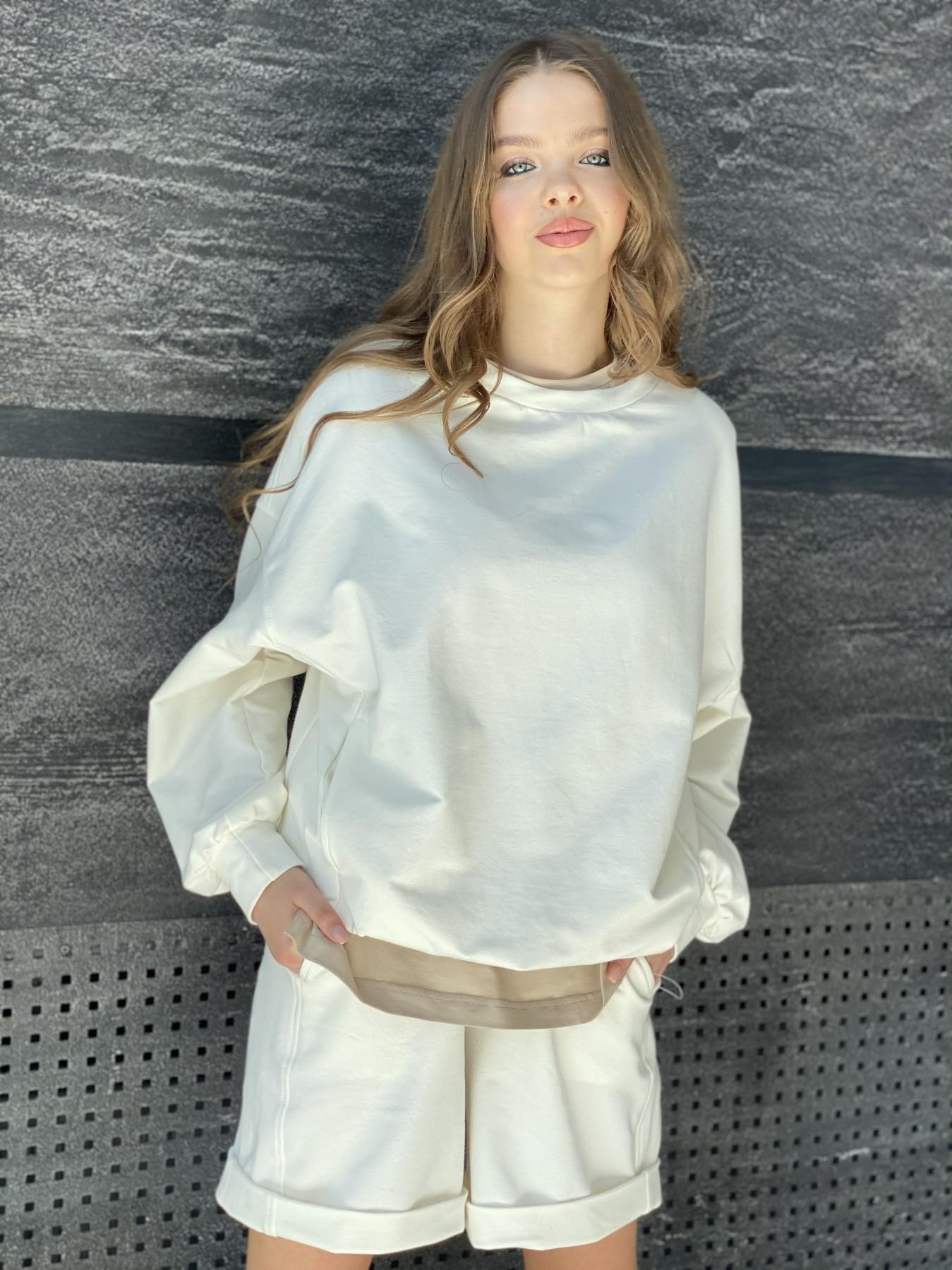 Фарт 4 костюм трикотажный 2х нитка из вискозы 11363 АРТ. 48121 Цвет: Молоко/Бежевый - фото 8, интернет магазин tm-modus.ru