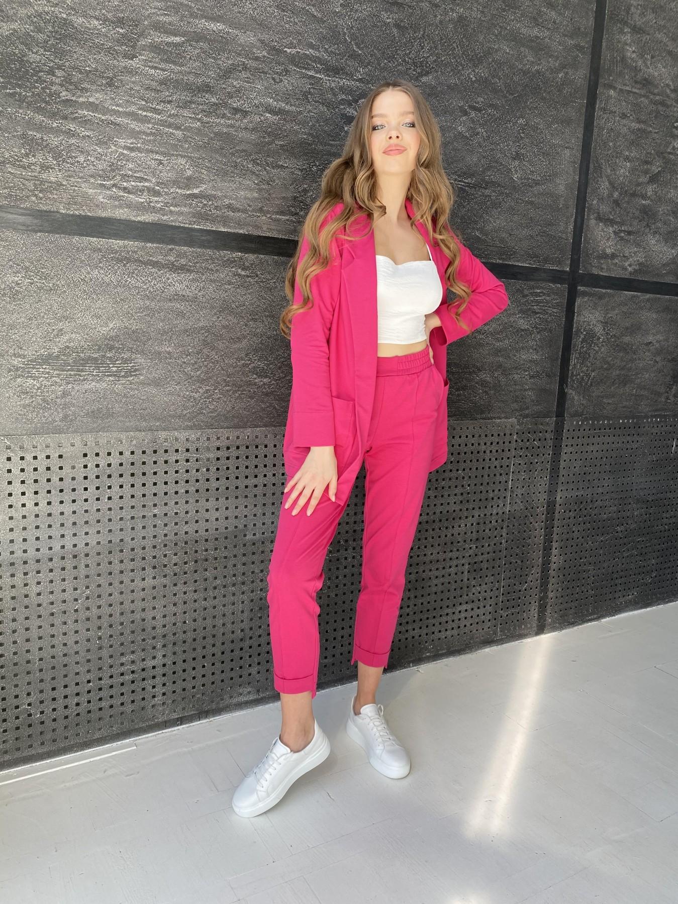 Аурис  костюм из двунитки на трикотаже турция 11085 АРТ. 48166 Цвет: Малиновый - фото 3, интернет магазин tm-modus.ru