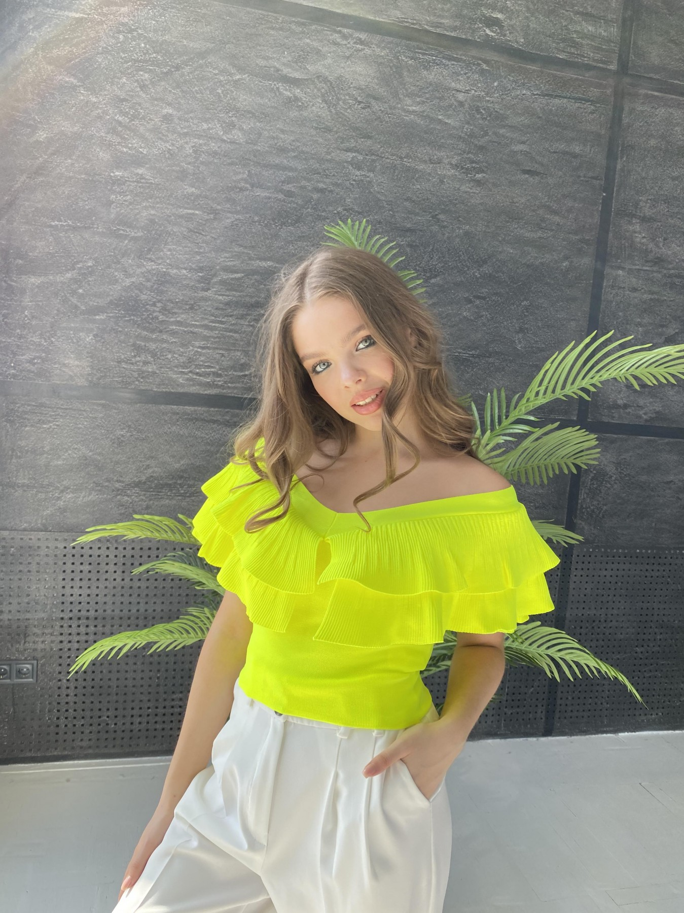 Топ 2586 АРТ. 48089 Цвет: Желтый неон - фото 3, интернет магазин tm-modus.ru