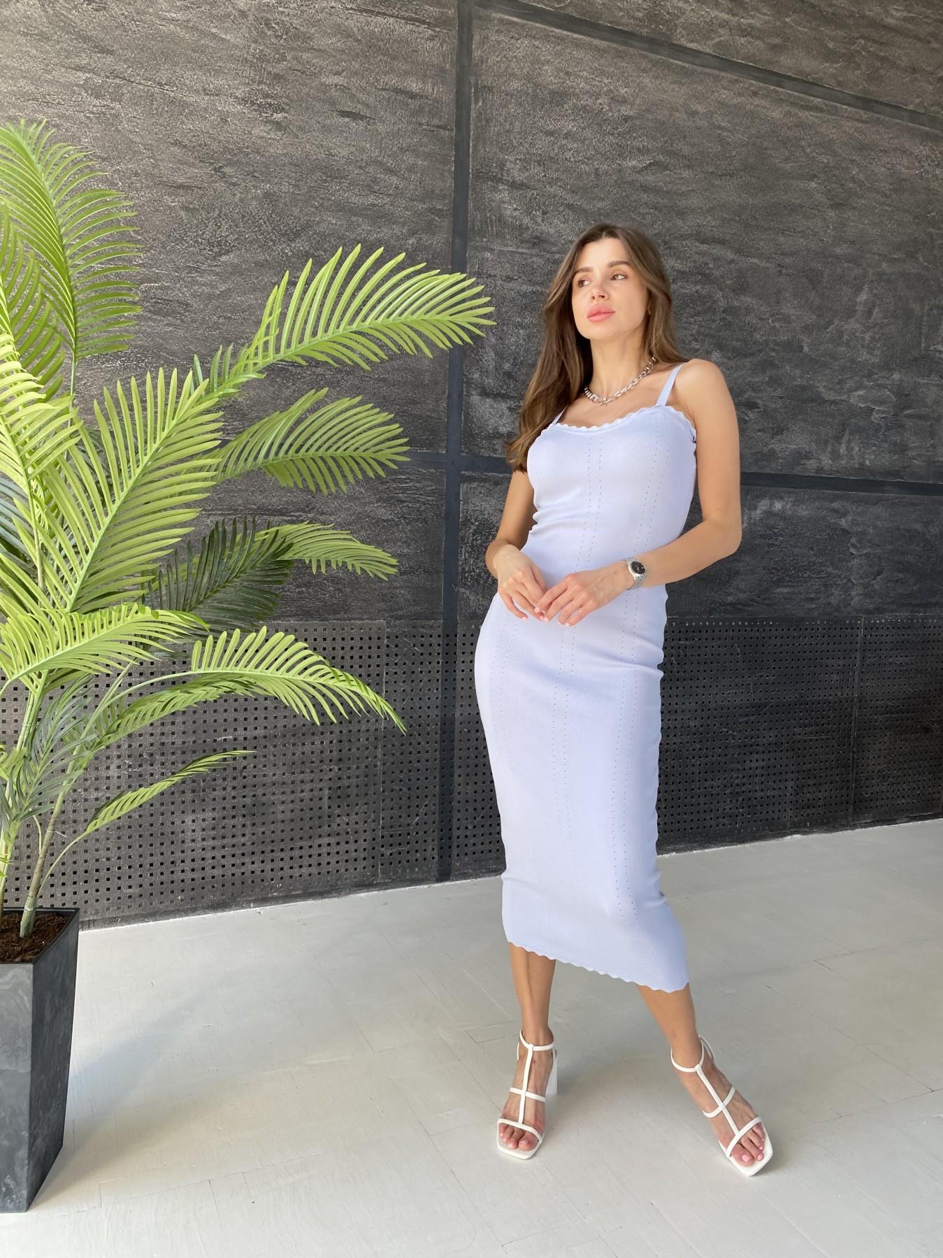 Платье 91761 АРТ. 48071 Цвет: Голубой - фото 5, интернет магазин tm-modus.ru