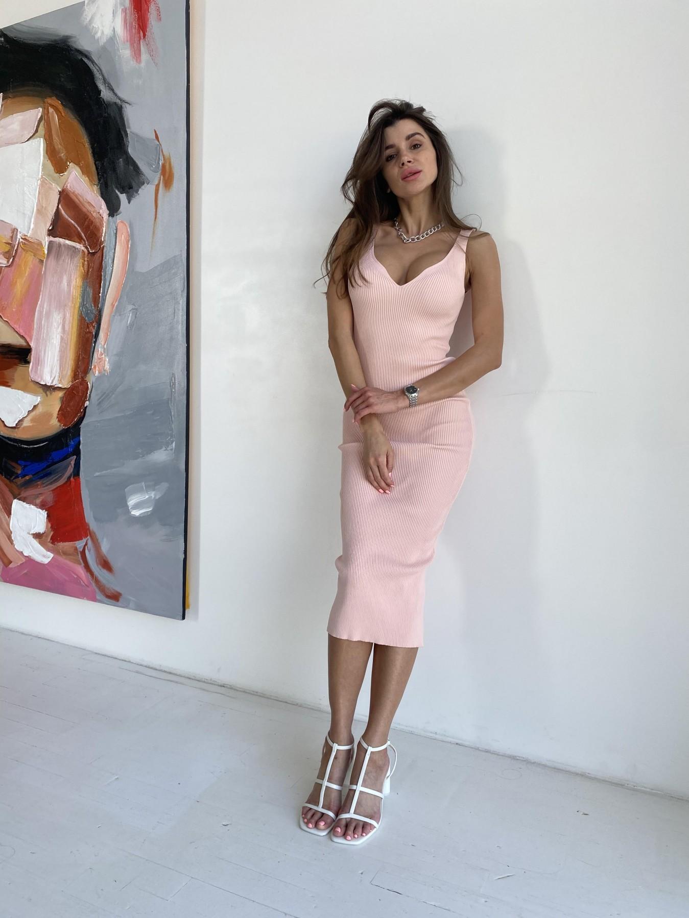 Платье 91798 АРТ. 48060 Цвет: Пудра - фото 2, интернет магазин tm-modus.ru