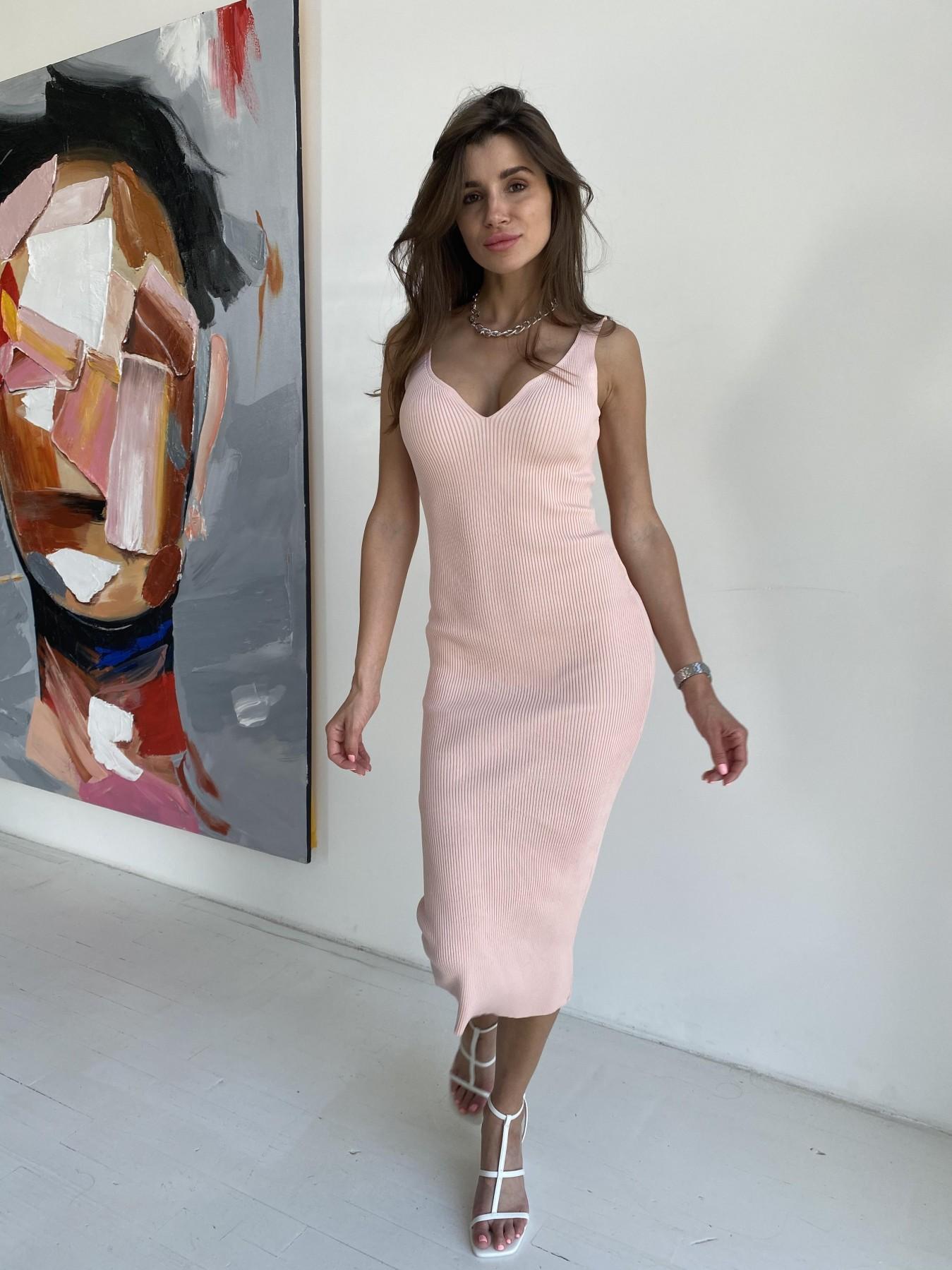Платье 91798 АРТ. 48060 Цвет: Пудра - фото 4, интернет магазин tm-modus.ru