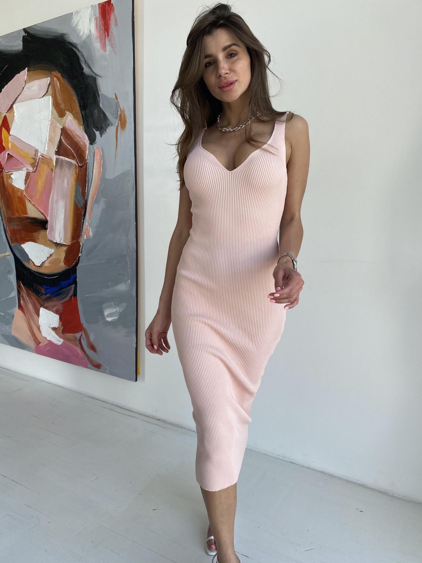 Платье 91798 АРТ. 48060 Цвет: Пудра - фото 5, интернет магазин tm-modus.ru