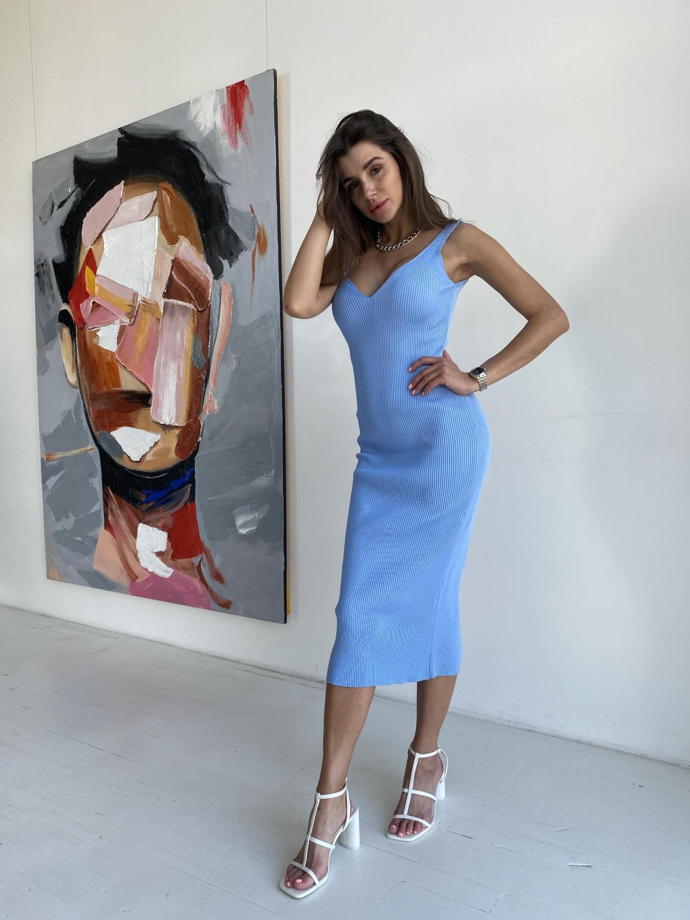 Платье 91798 АРТ. 48058 Цвет: Голубой - фото 3, интернет магазин tm-modus.ru