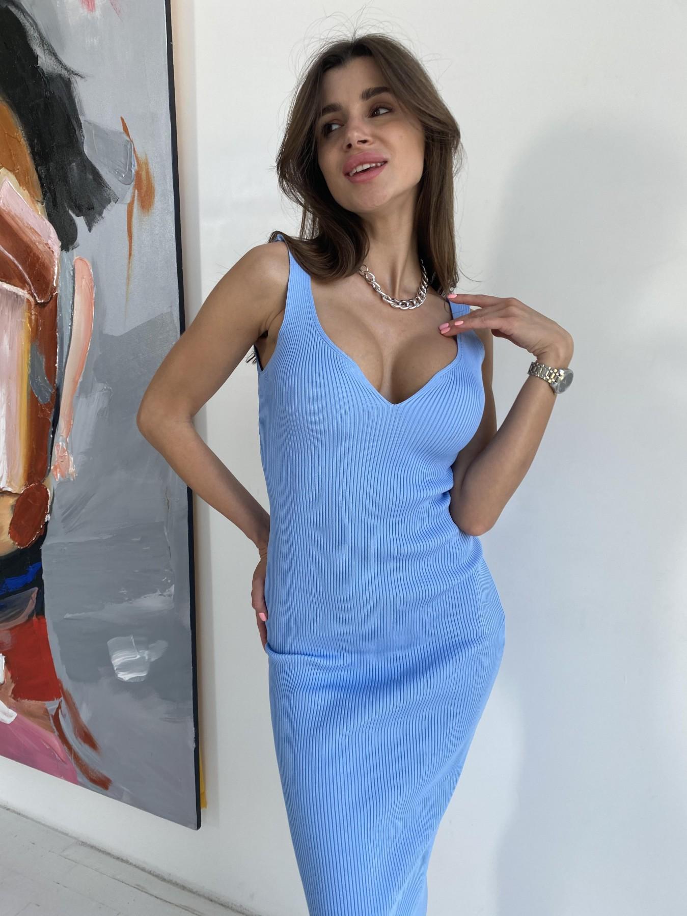 Платье 91798 АРТ. 48058 Цвет: Голубой - фото 10, интернет магазин tm-modus.ru