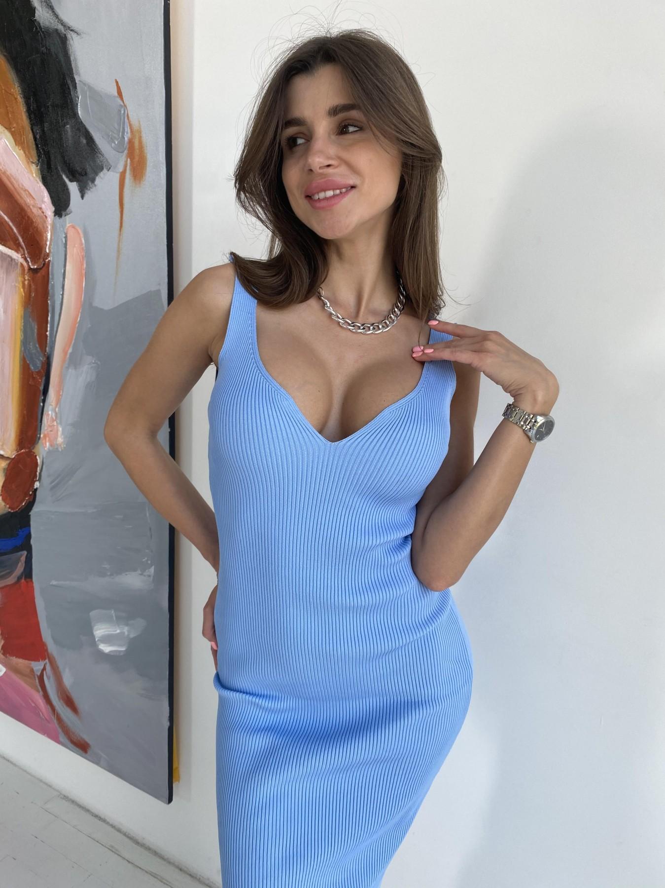 Платье 91798 АРТ. 48058 Цвет: Голубой - фото 11, интернет магазин tm-modus.ru