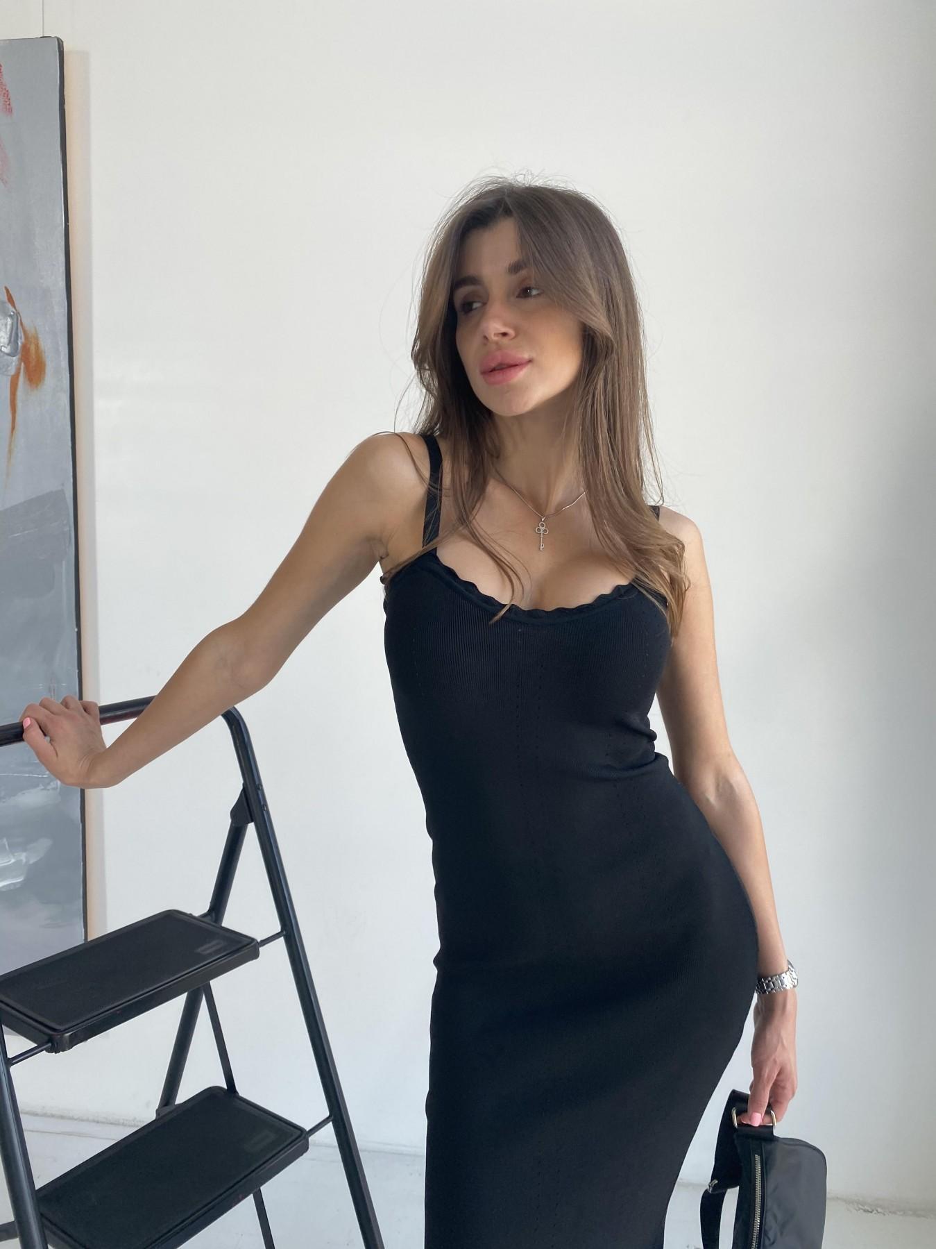 Платье 91761 АРТ. 48074 Цвет: Черный - фото 3, интернет магазин tm-modus.ru