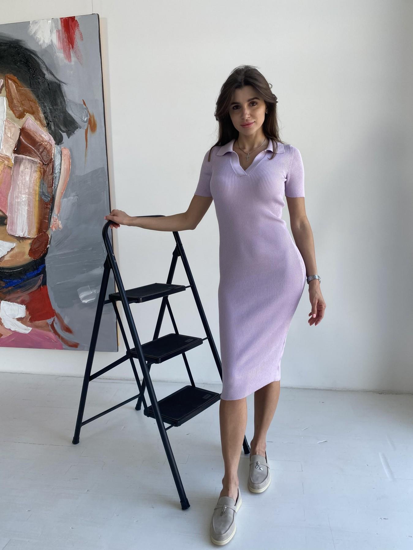 Платье воротник 91688 АРТ. 48064 Цвет: Сирень - фото 5, интернет магазин tm-modus.ru