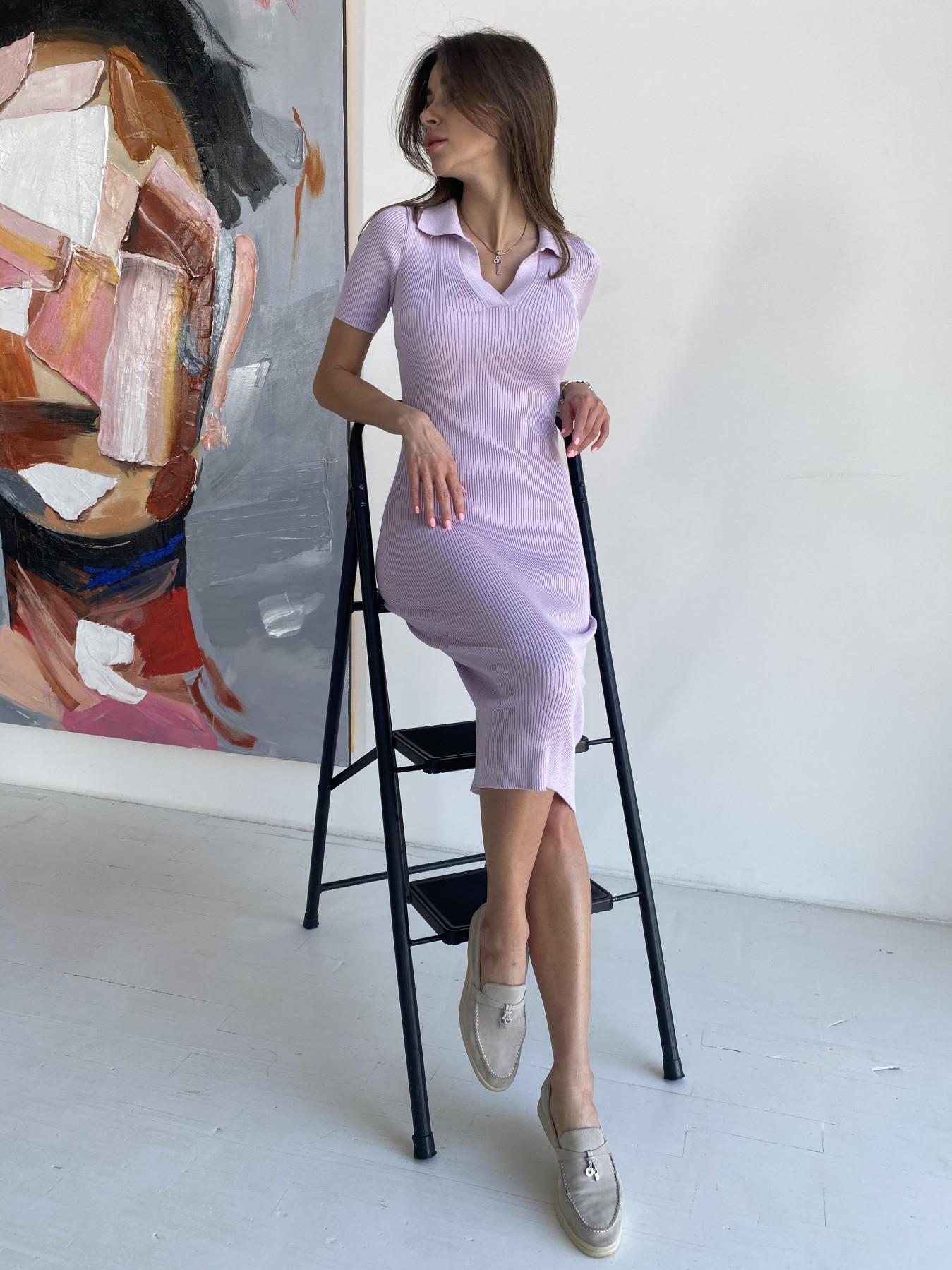 Платье воротник 91688 АРТ. 48064 Цвет: Сирень - фото 7, интернет магазин tm-modus.ru