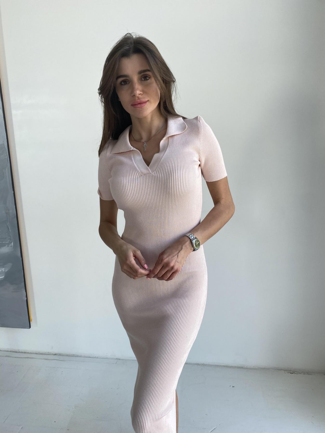 Платье воротник 91688 АРТ. 48068 Цвет: Пудра - фото 1, интернет магазин tm-modus.ru