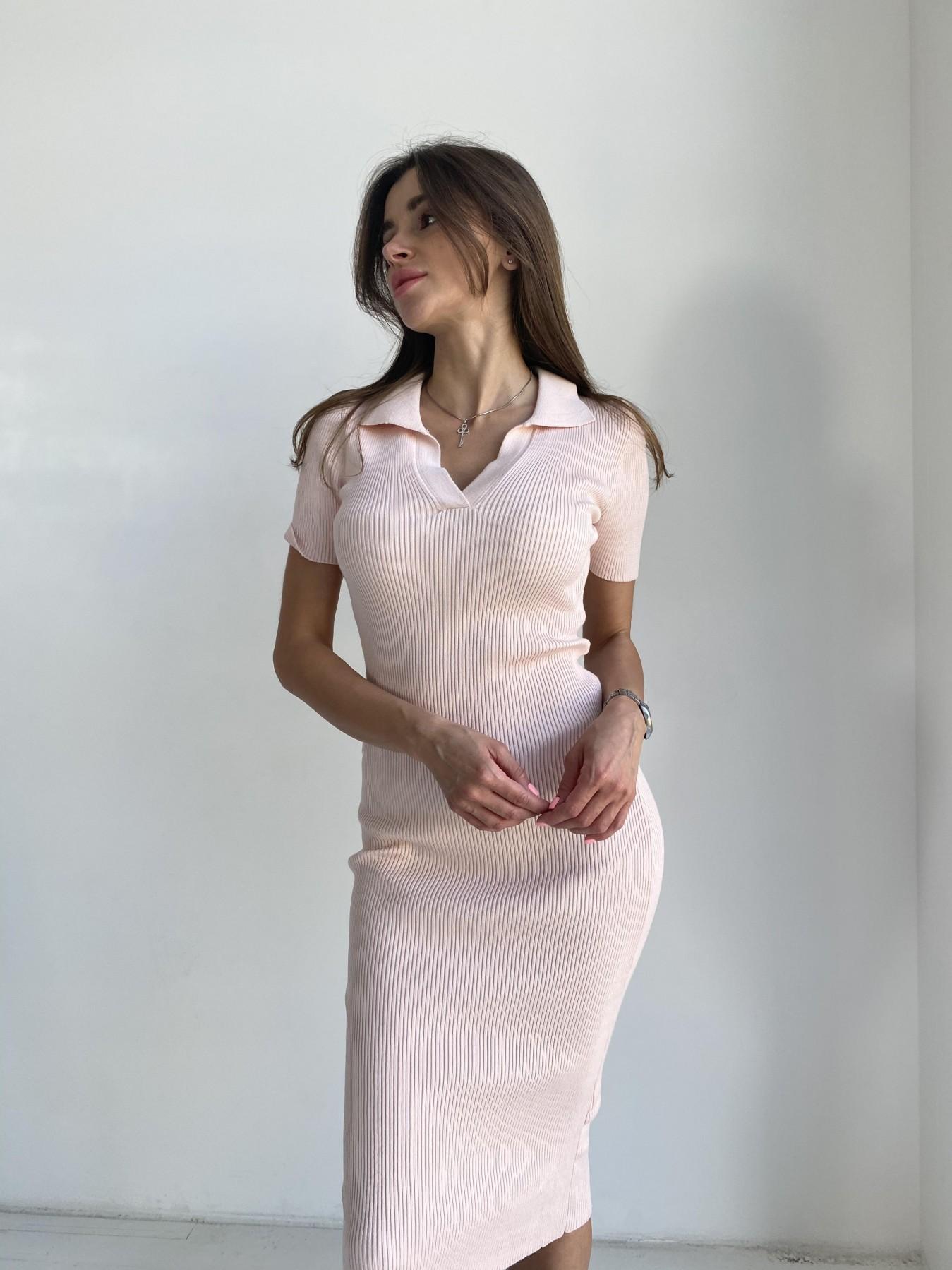 Платье воротник 91688 АРТ. 48068 Цвет: Пудра - фото 4, интернет магазин tm-modus.ru