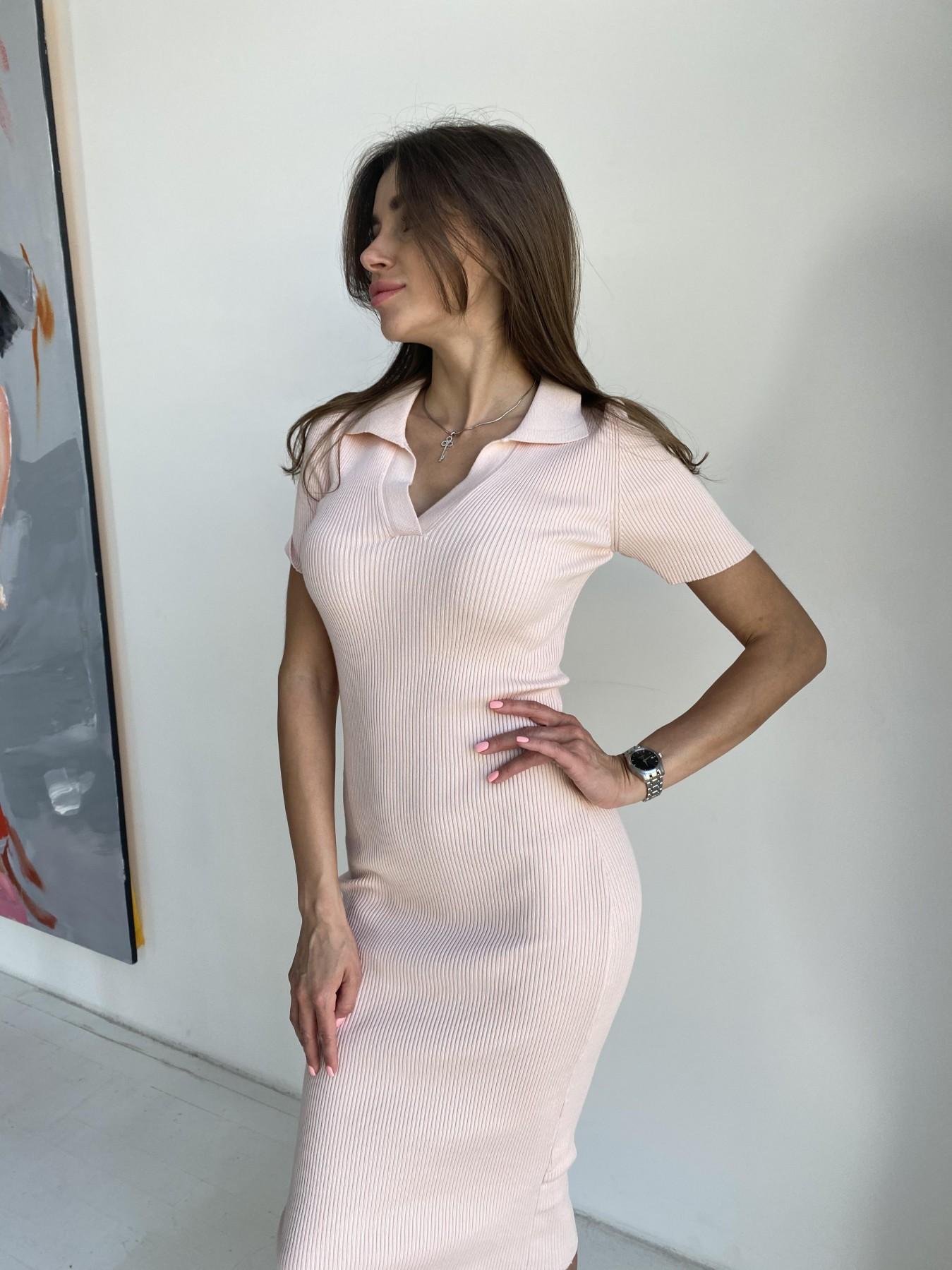 Платье воротник 91688 АРТ. 48068 Цвет: Пудра - фото 5, интернет магазин tm-modus.ru