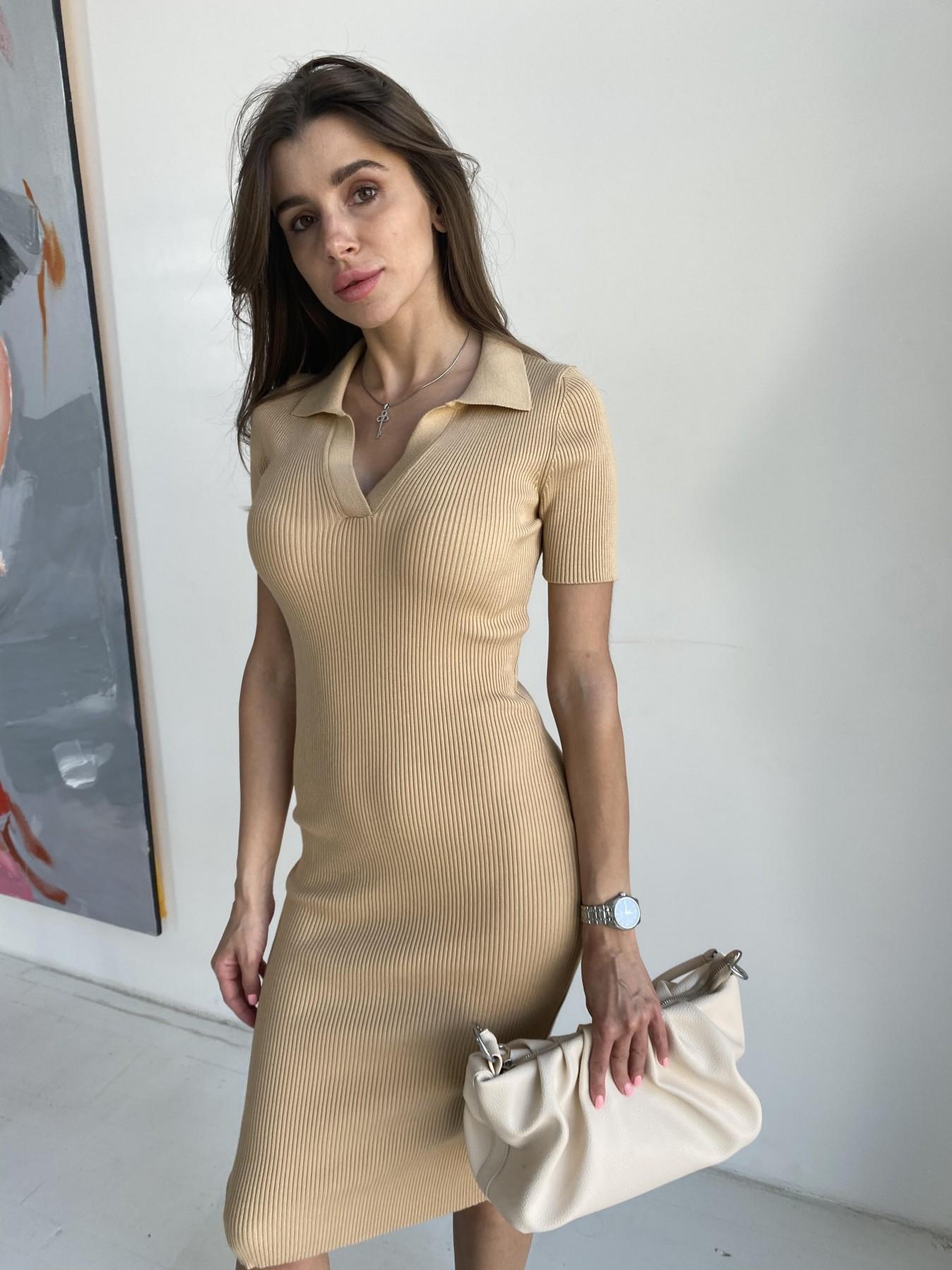 Платье воротник 91688 АРТ. 48065 Цвет: Кемел - фото 1, интернет магазин tm-modus.ru