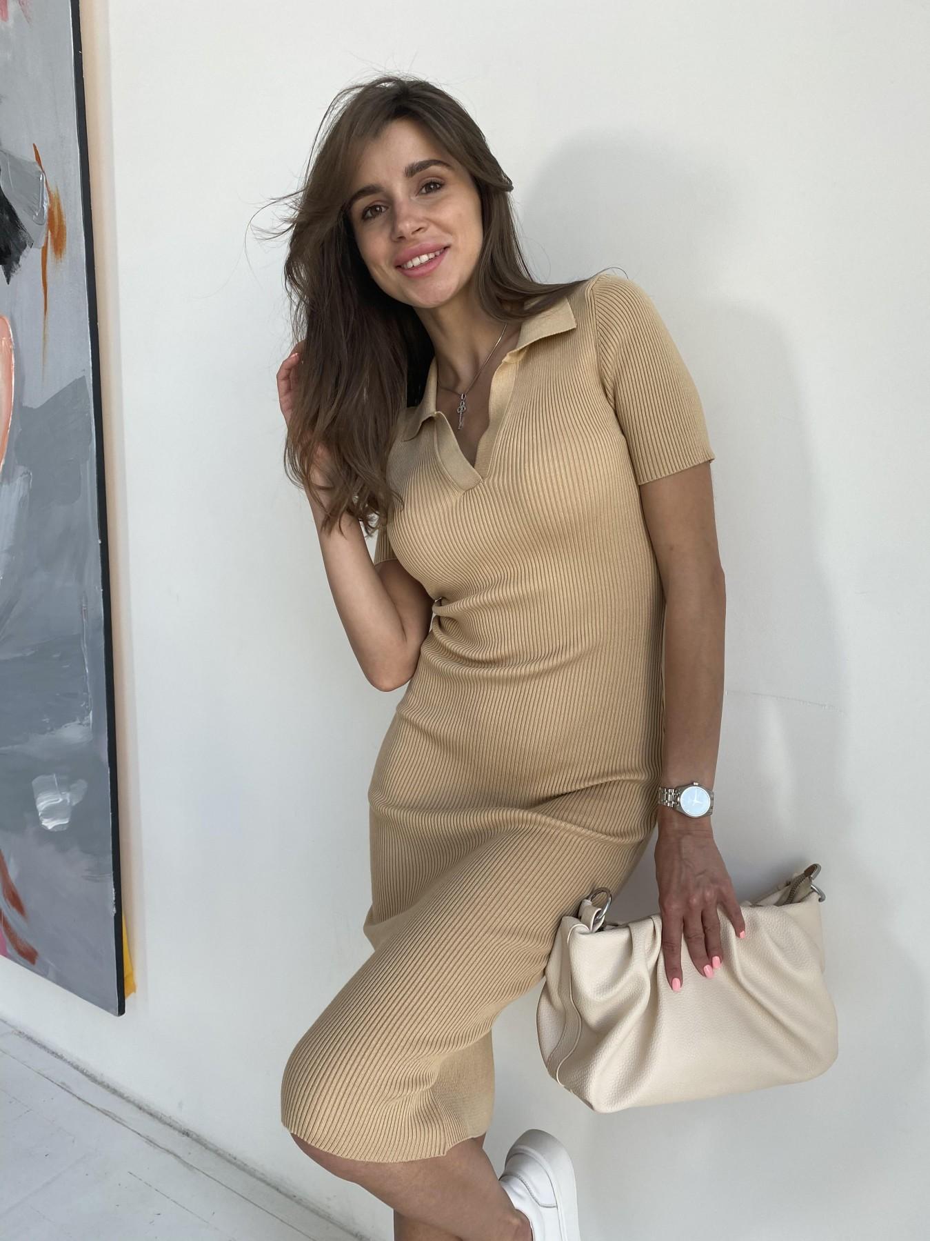 Платье воротник 91688 АРТ. 48065 Цвет: Кемел - фото 7, интернет магазин tm-modus.ru