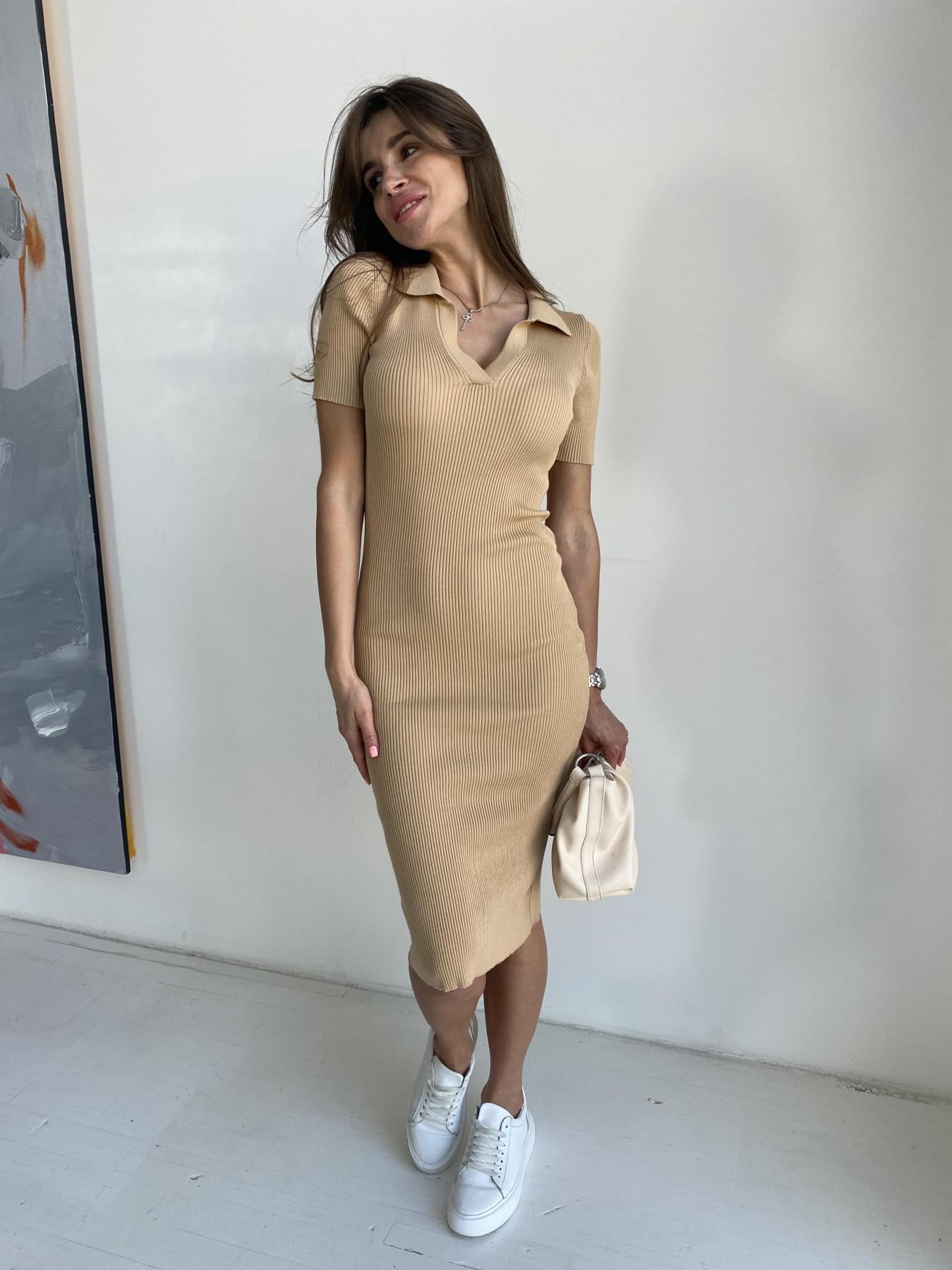 Платье воротник 91688 АРТ. 48065 Цвет: Кемел - фото 8, интернет магазин tm-modus.ru