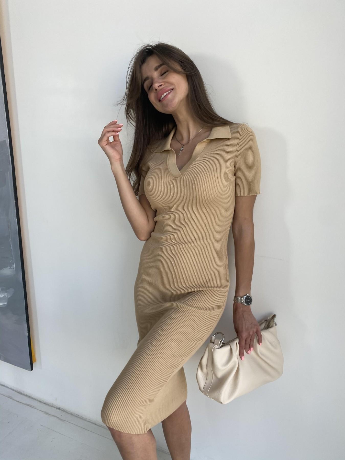 Платье воротник 91688 АРТ. 48065 Цвет: Кемел - фото 9, интернет магазин tm-modus.ru
