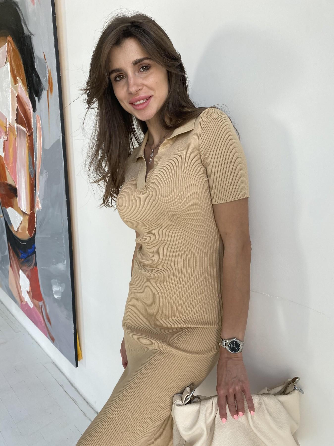 Платье воротник 91688 АРТ. 48065 Цвет: Кемел - фото 10, интернет магазин tm-modus.ru