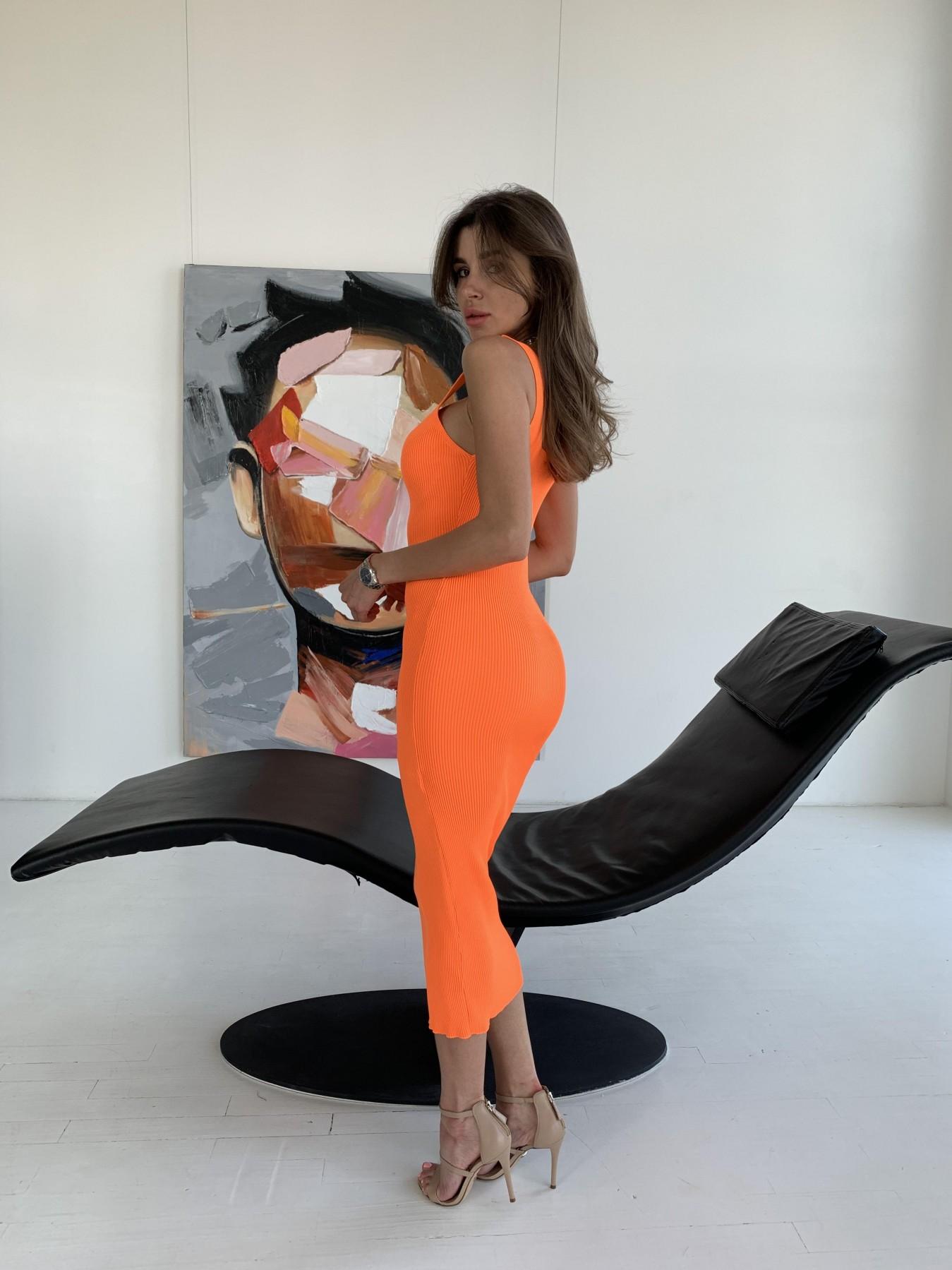Платье 91798 АРТ. 48059 Цвет: Оранжевый - фото 3, интернет магазин tm-modus.ru