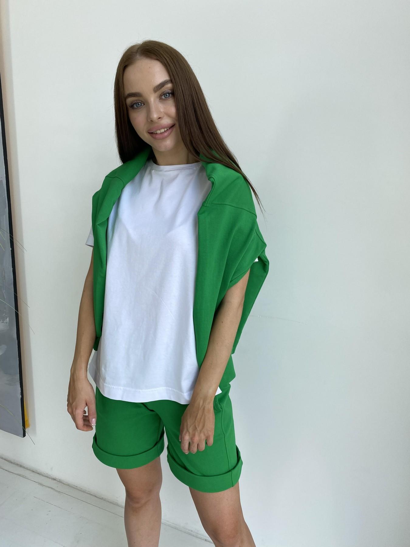 Фарт 4 костюм трикотажный 2х нитка из вискозы 11363 АРТ. 48020 Цвет: ЗеленыйТравка/Белый - фото 4, интернет магазин tm-modus.ru