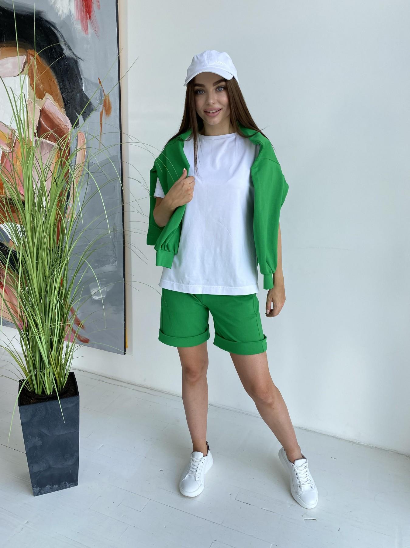 Фарт 4 костюм трикотажный 2х нитка из вискозы 11363 АРТ. 48020 Цвет: ЗеленыйТравка/Белый - фото 5, интернет магазин tm-modus.ru