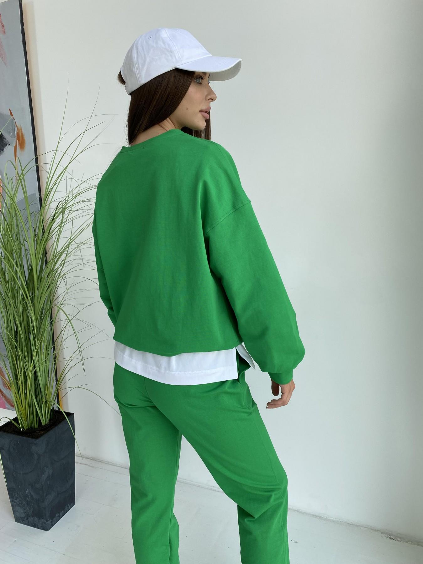 Фарт 4 костюм трикотажный 2х нитка из вискозы 11363 АРТ. 48020 Цвет: ЗеленыйТравка/Белый - фото 9, интернет магазин tm-modus.ru