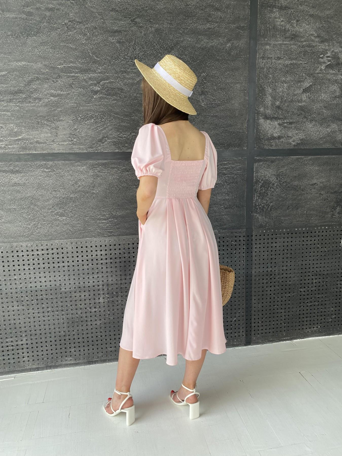 Кисес Миди платье  софт 11540 АРТ. 48193 Цвет: Пудра 13 - фото 2, интернет магазин tm-modus.ru