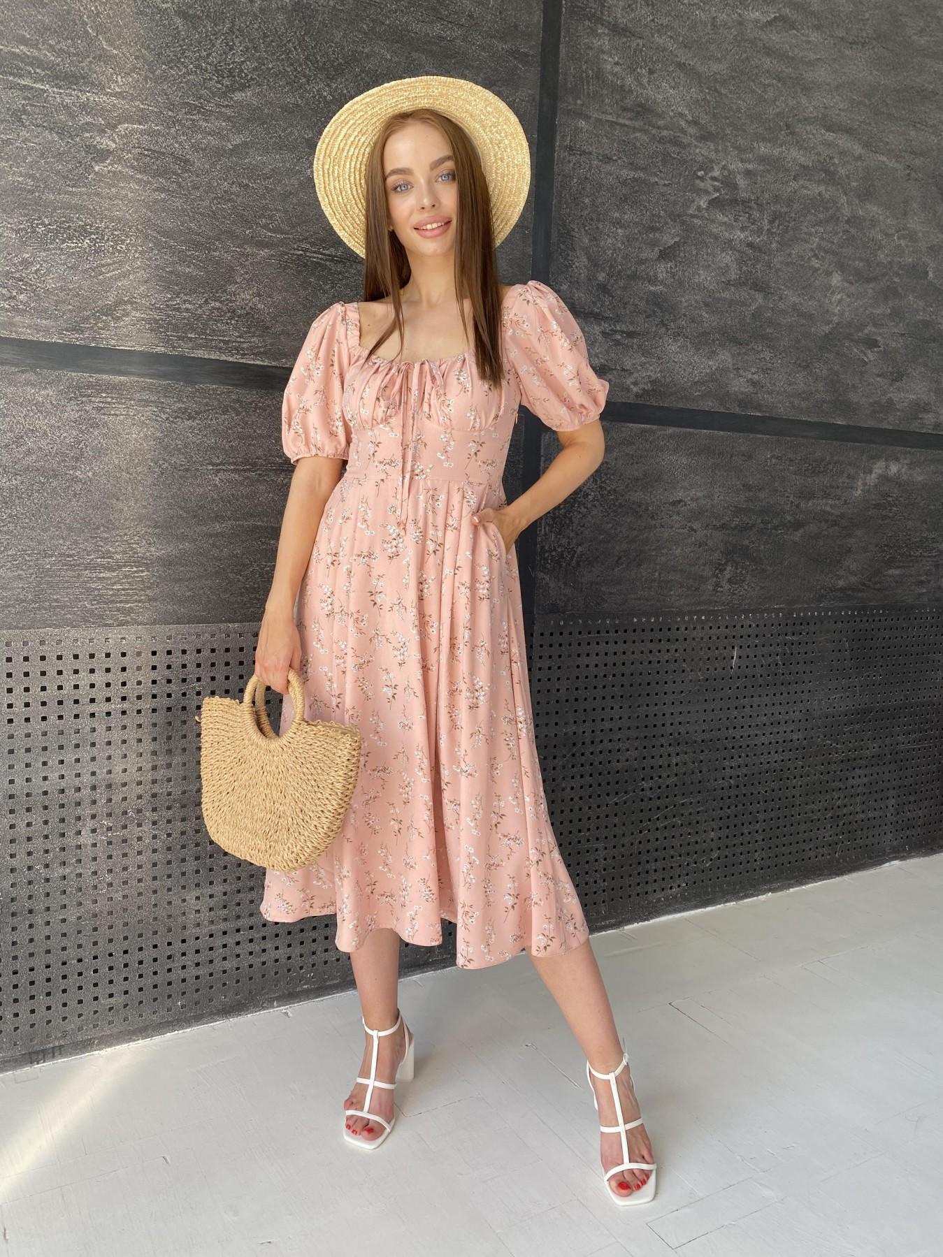 Женские платья от производителя Кисес Миди платье из софт ткани в принт 11348