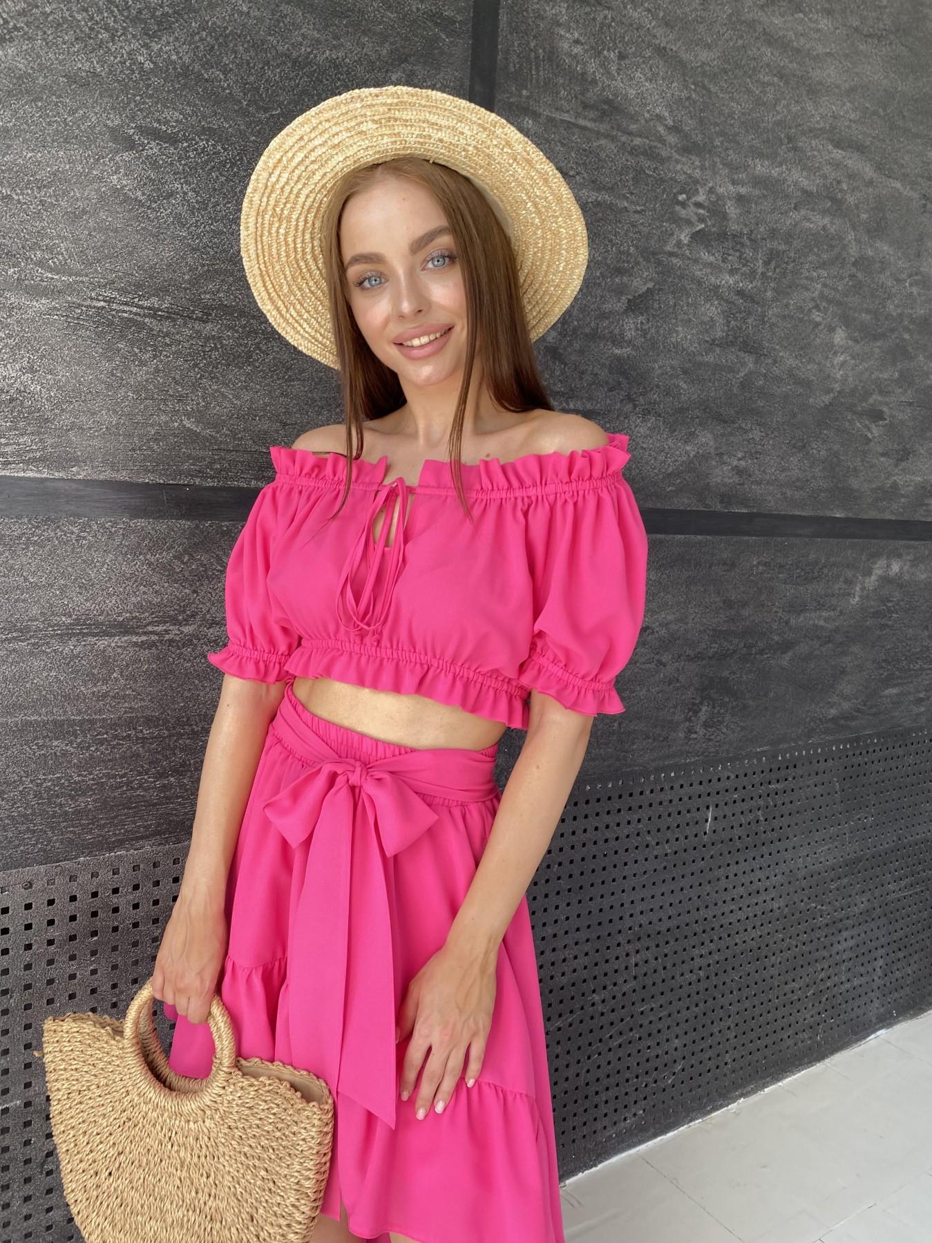 Лаундж костюм из креп креш шифона 11565 АРТ. 48236 Цвет: Малиновый - фото 4, интернет магазин tm-modus.ru