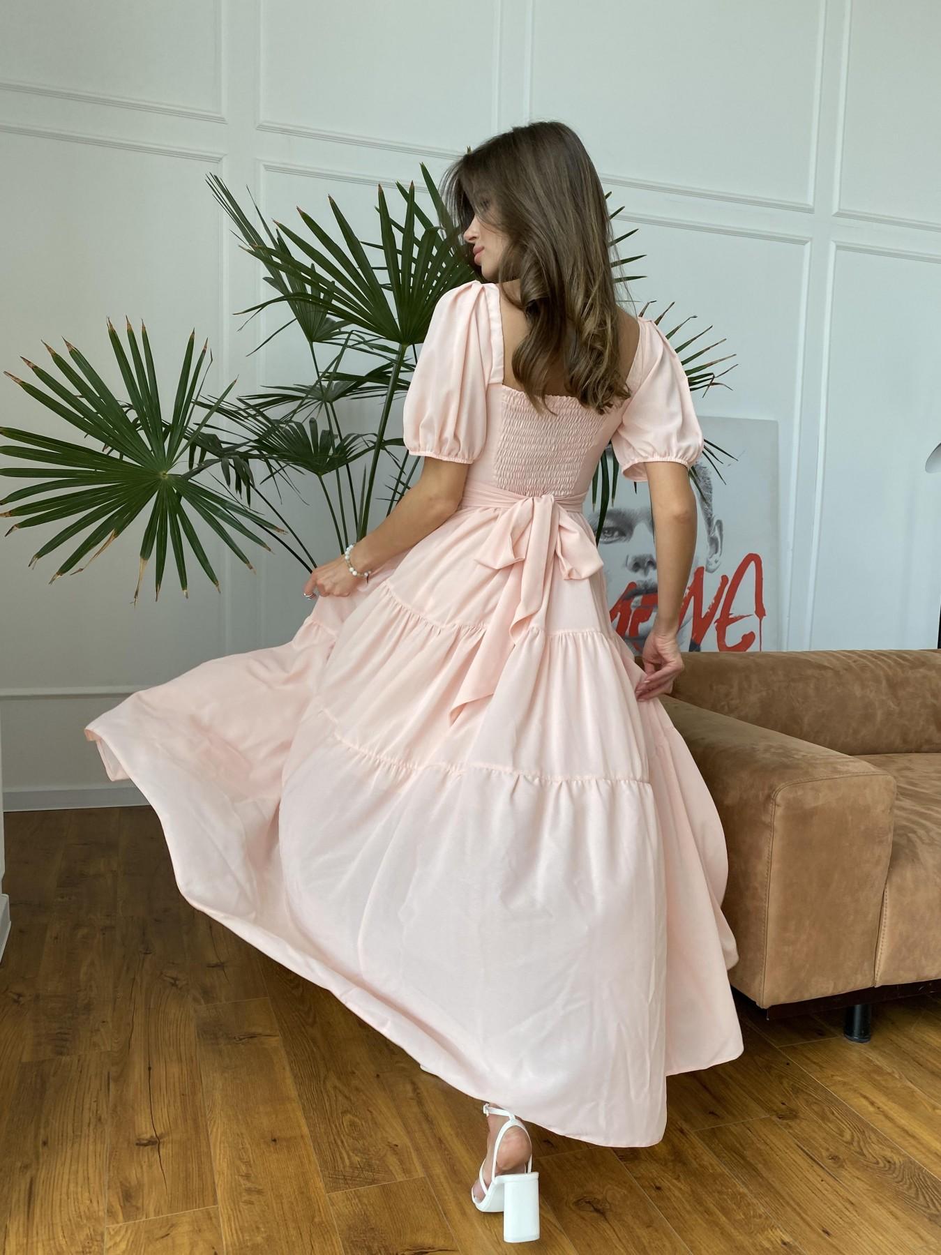 Сейшелы платье креп шифон 11519 АРТ. 48201 Цвет: Персик 17 - фото 4, интернет магазин tm-modus.ru