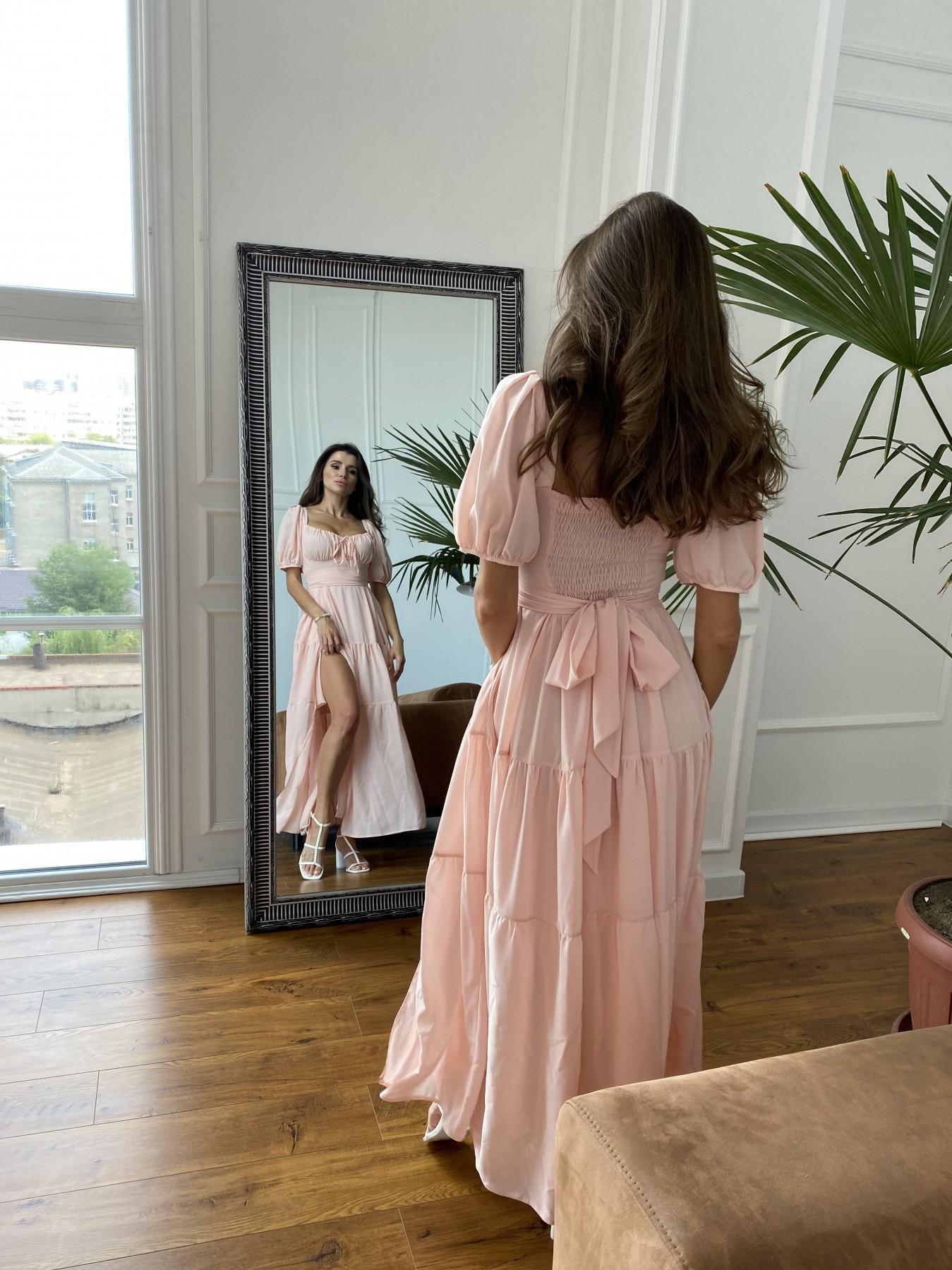 Сейшелы платье креп шифон 11519 АРТ. 48201 Цвет: Персик 17 - фото 5, интернет магазин tm-modus.ru